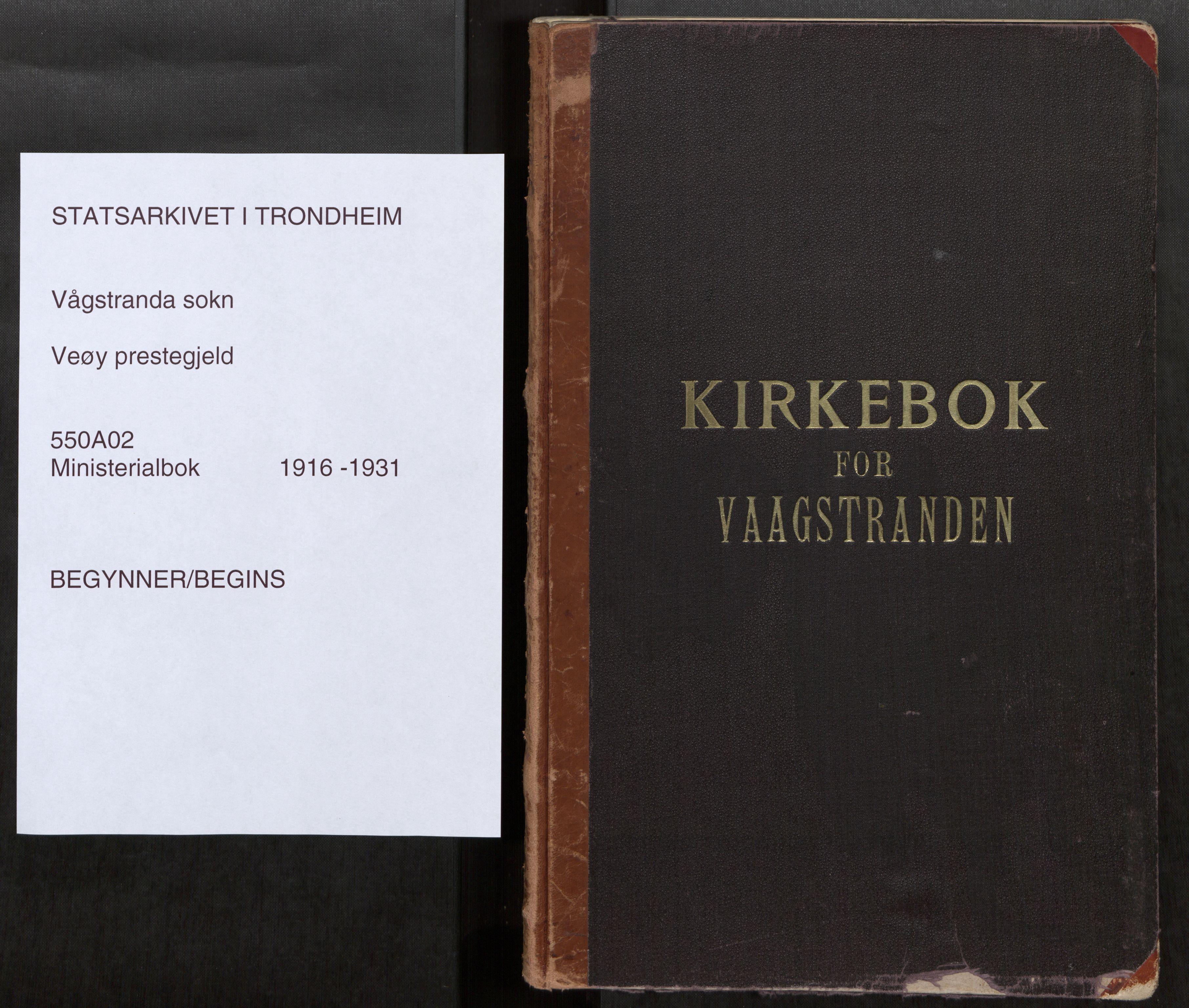SAT, Grytten sokneprestkontor, Ministerialbok nr. 550A02, 1916-1931, s. upaginert