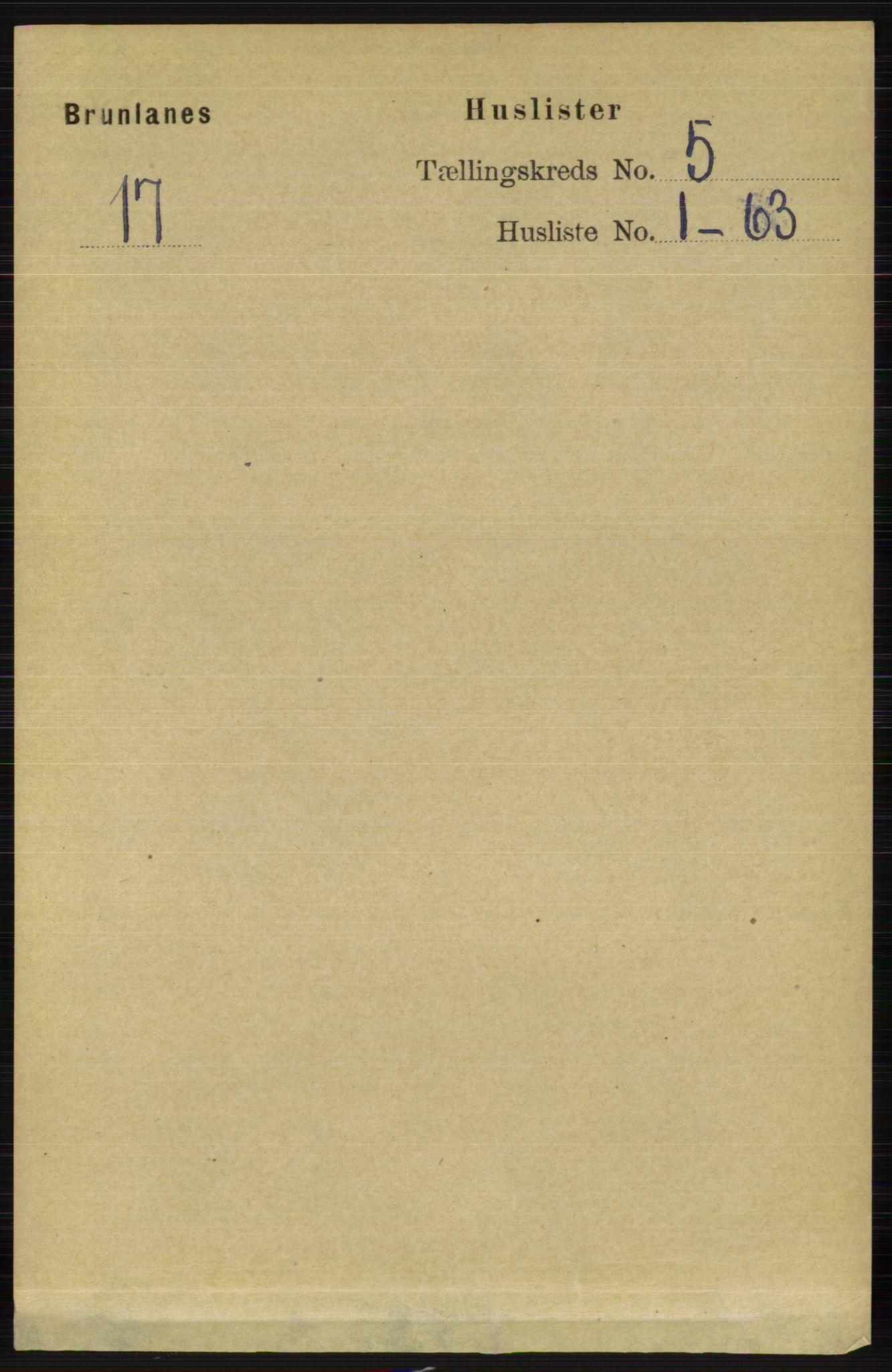 RA, Folketelling 1891 for 0726 Brunlanes herred, 1891, s. 2165