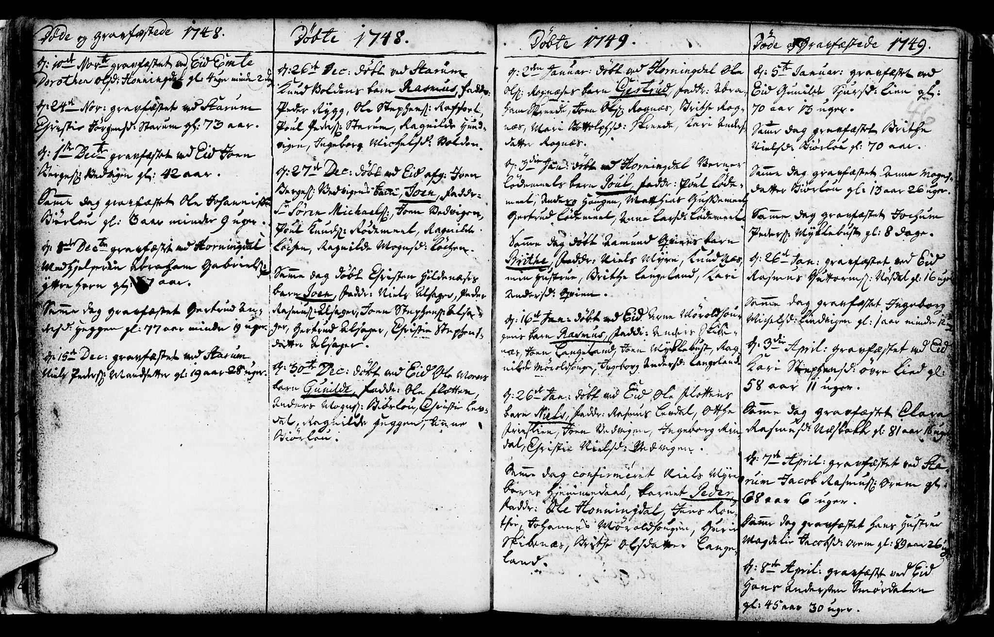 SAB, Eid Sokneprestembete, H/Haa: Ministerialbok nr. A 2, 1741-1769, s. 46