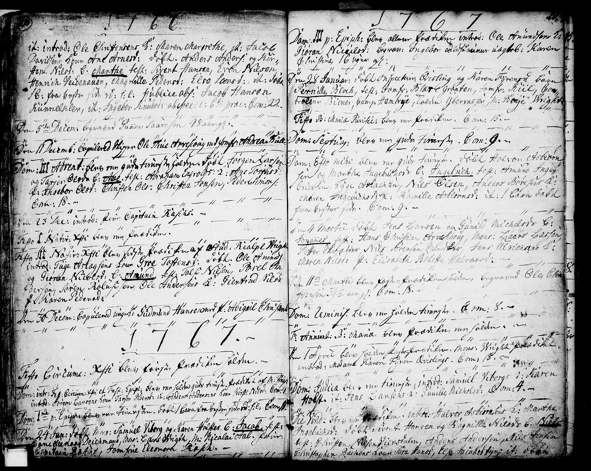 SAKO, Porsgrunn kirkebøker , F/Fa/L0002: Ministerialbok nr. 2, 1764-1814, s. 20-21