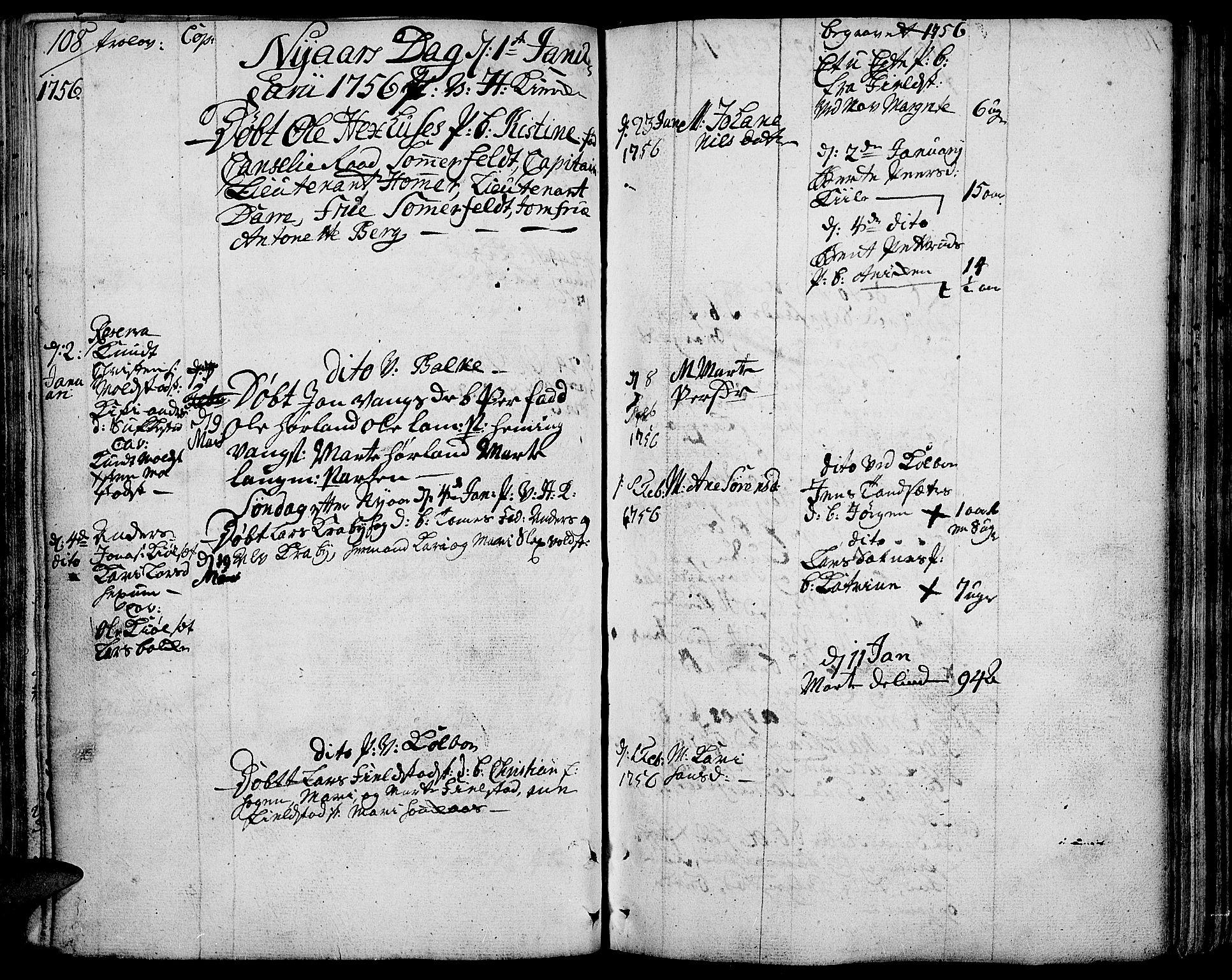 SAH, Toten prestekontor, Ministerialbok nr. 4, 1751-1761, s. 108