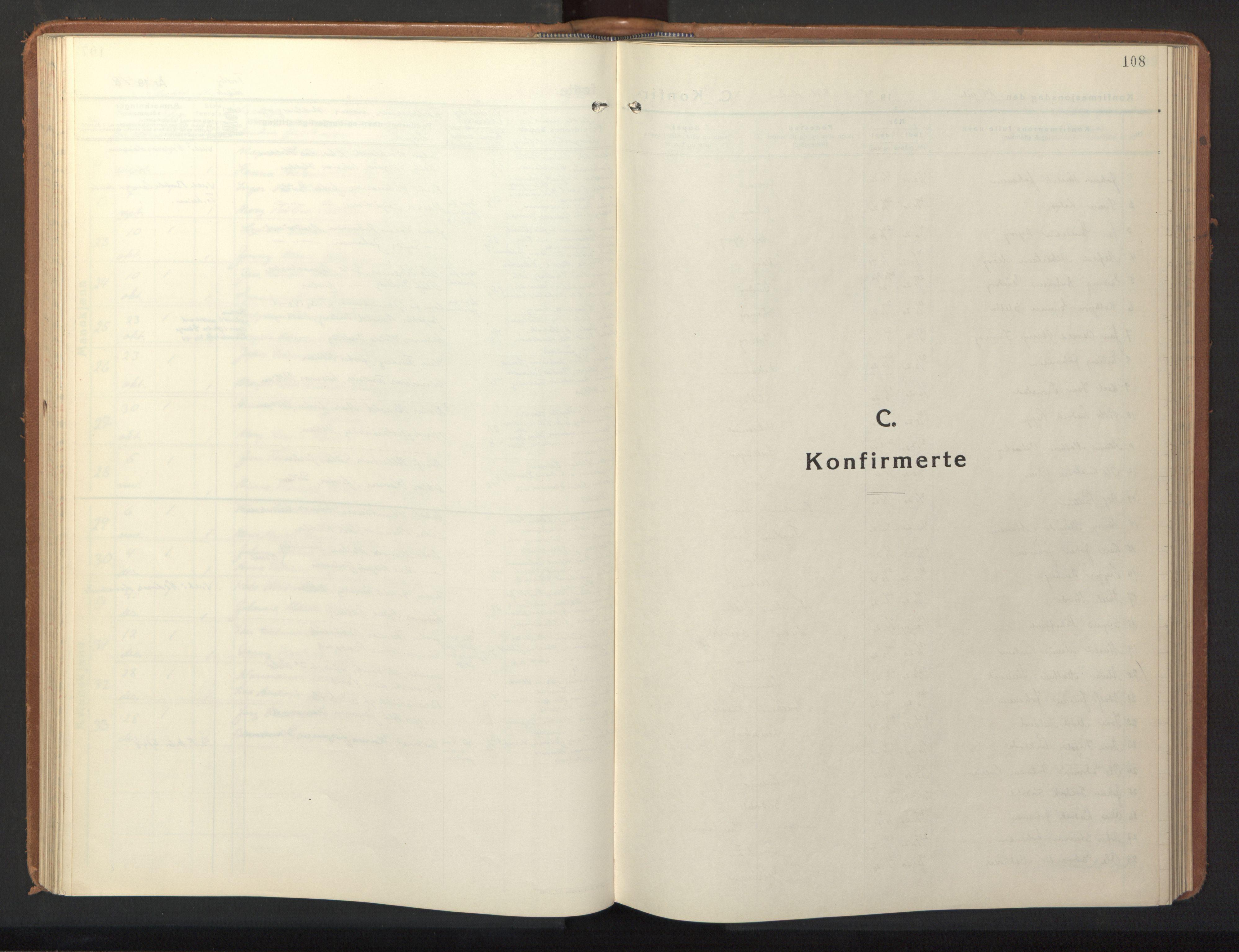 SAT, Ministerialprotokoller, klokkerbøker og fødselsregistre - Sør-Trøndelag, 640/L0590: Klokkerbok nr. 640C07, 1935-1948, s. 108
