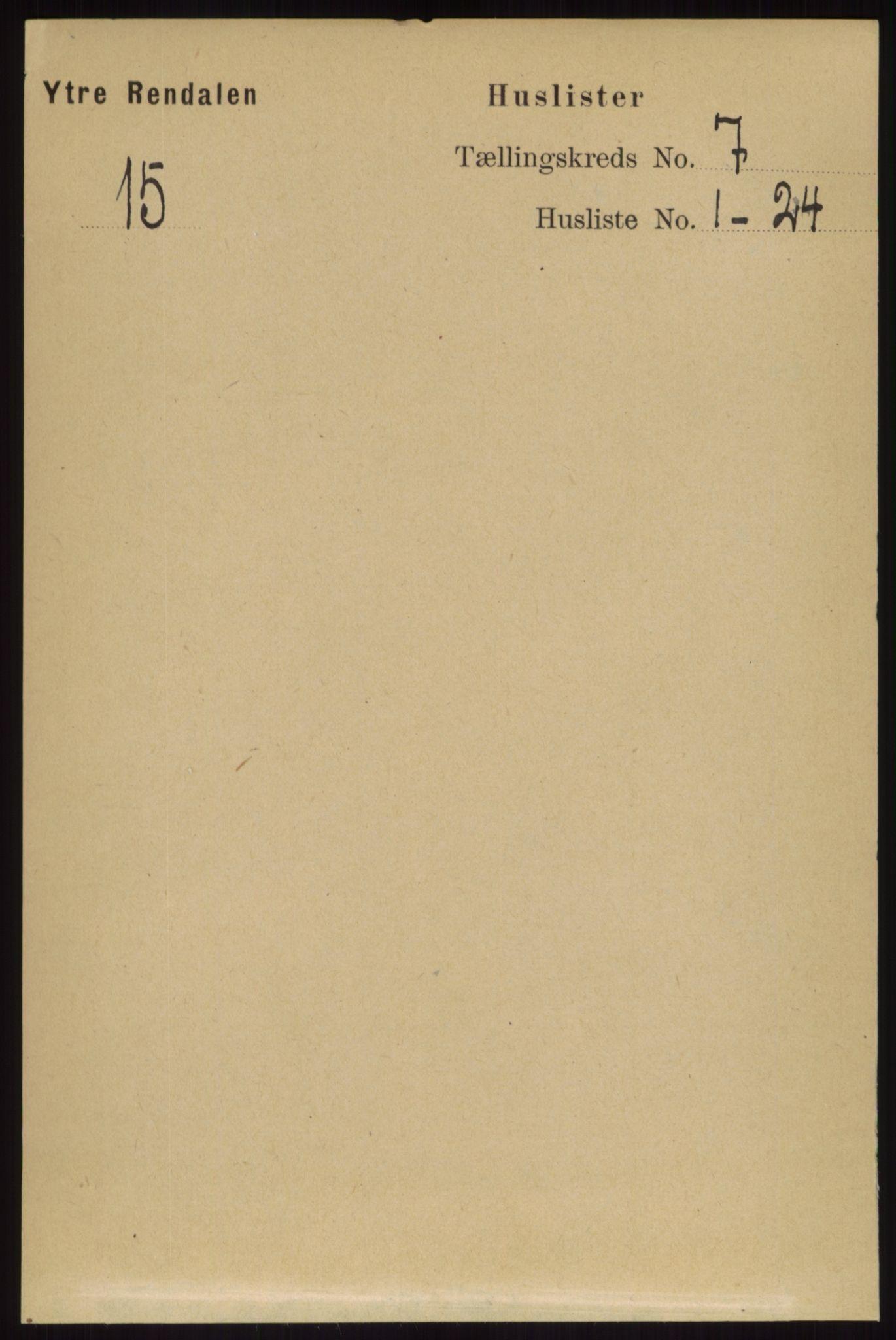 RA, Folketelling 1891 for 0432 Ytre Rendal herred, 1891, s. 1818