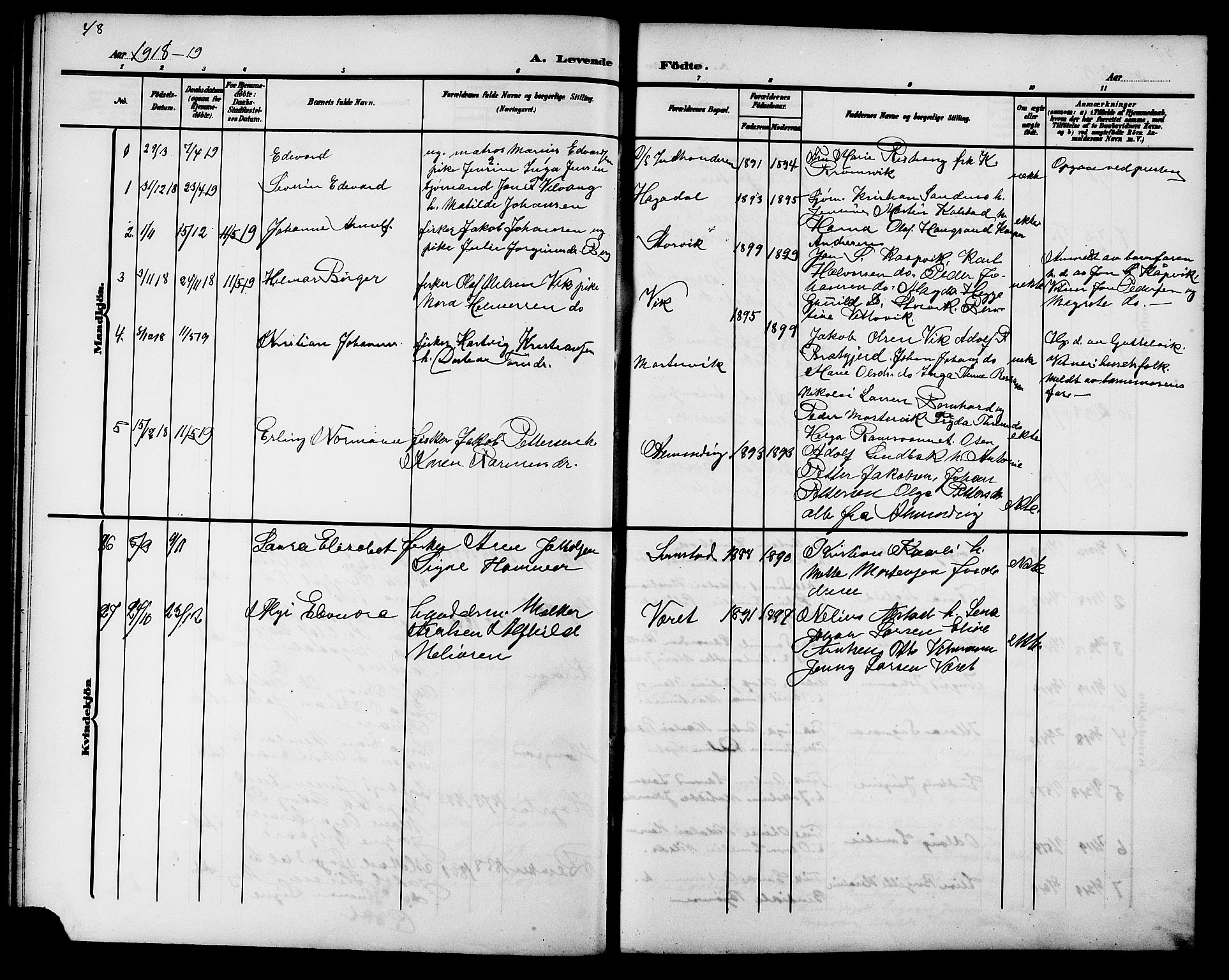 SAT, Ministerialprotokoller, klokkerbøker og fødselsregistre - Sør-Trøndelag, 657/L0717: Klokkerbok nr. 657C04, 1904-1923, s. 48