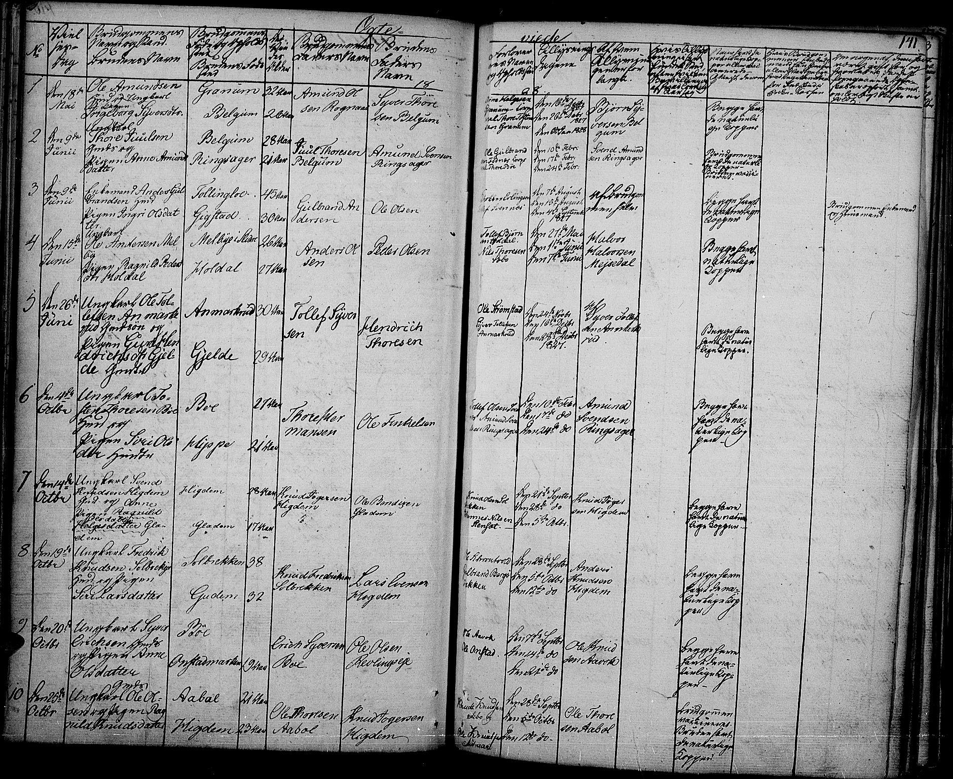 SAH, Nord-Aurdal prestekontor, Ministerialbok nr. 3, 1828-1841, s. 141