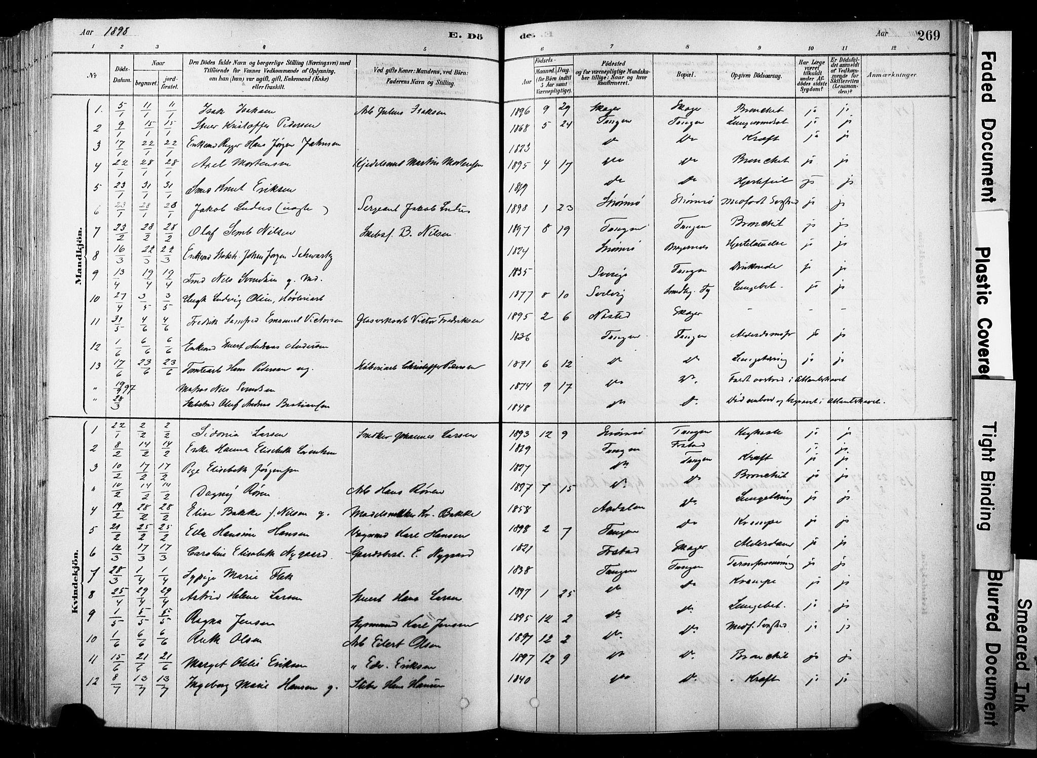 SAKO, Strømsø kirkebøker, F/Fb/L0006: Ministerialbok nr. II 6, 1879-1910, s. 269