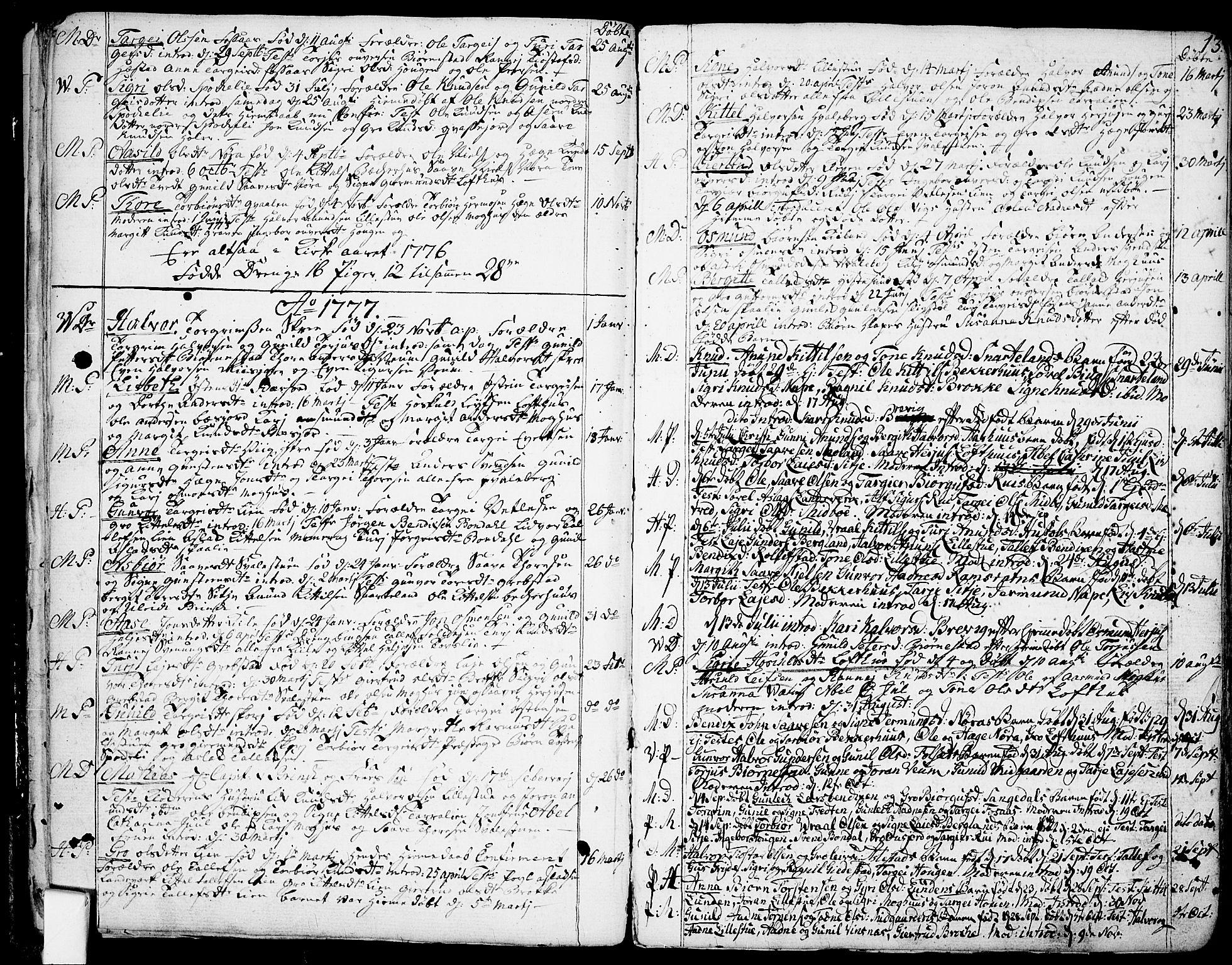 SAKO, Fyresdal kirkebøker, F/Fa/L0002: Ministerialbok nr. I 2, 1769-1814, s. 13