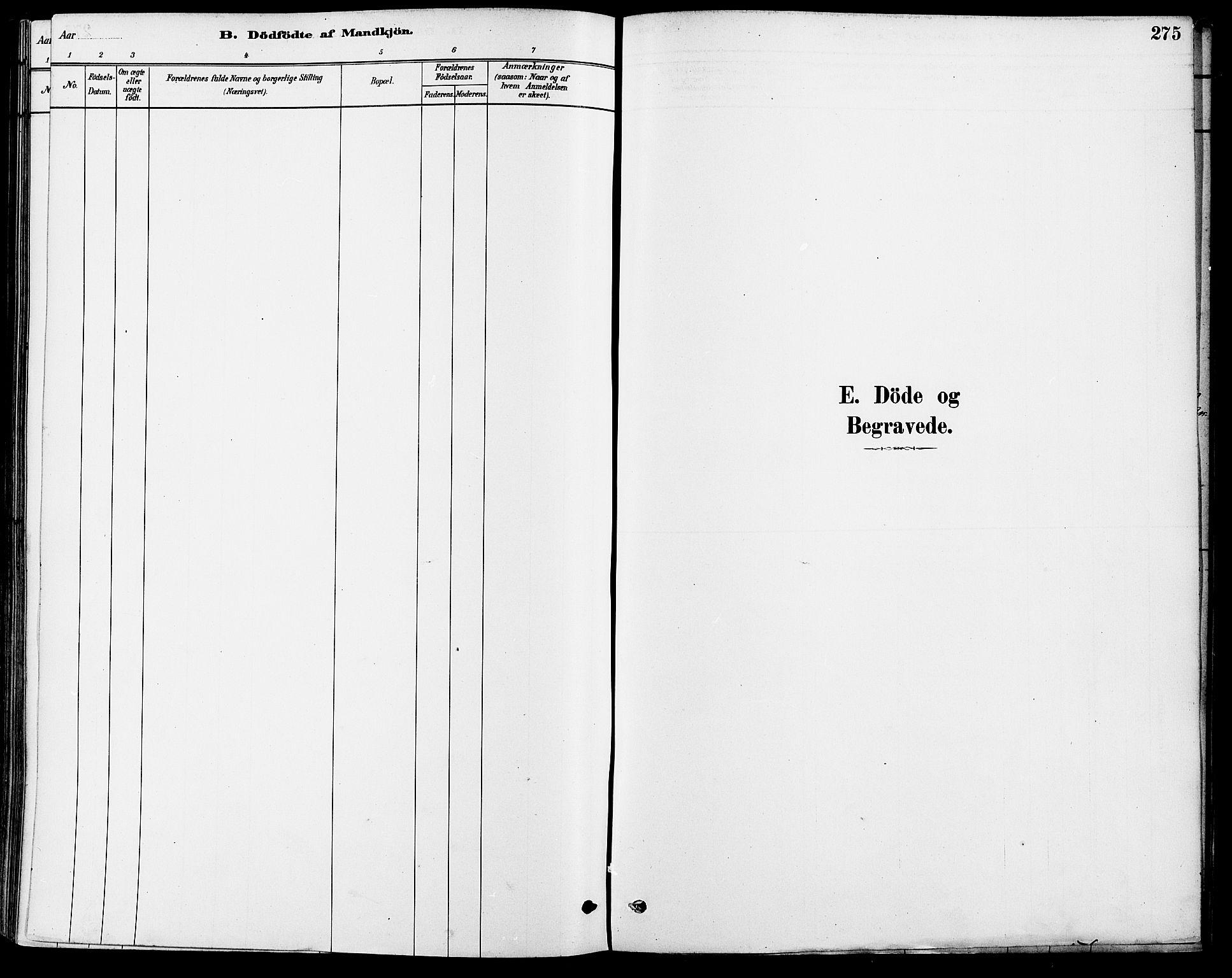 SAO, Gamle Aker prestekontor Kirkebøker, F/L0006: Ministerialbok nr. 6, 1880-1887, s. 275