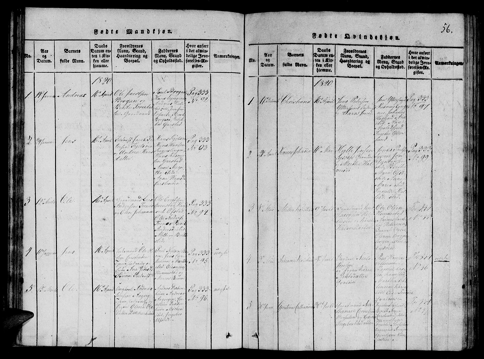 SAT, Ministerialprotokoller, klokkerbøker og fødselsregistre - Nord-Trøndelag, 784/L0667: Ministerialbok nr. 784A03 /2, 1818-1829, s. 56