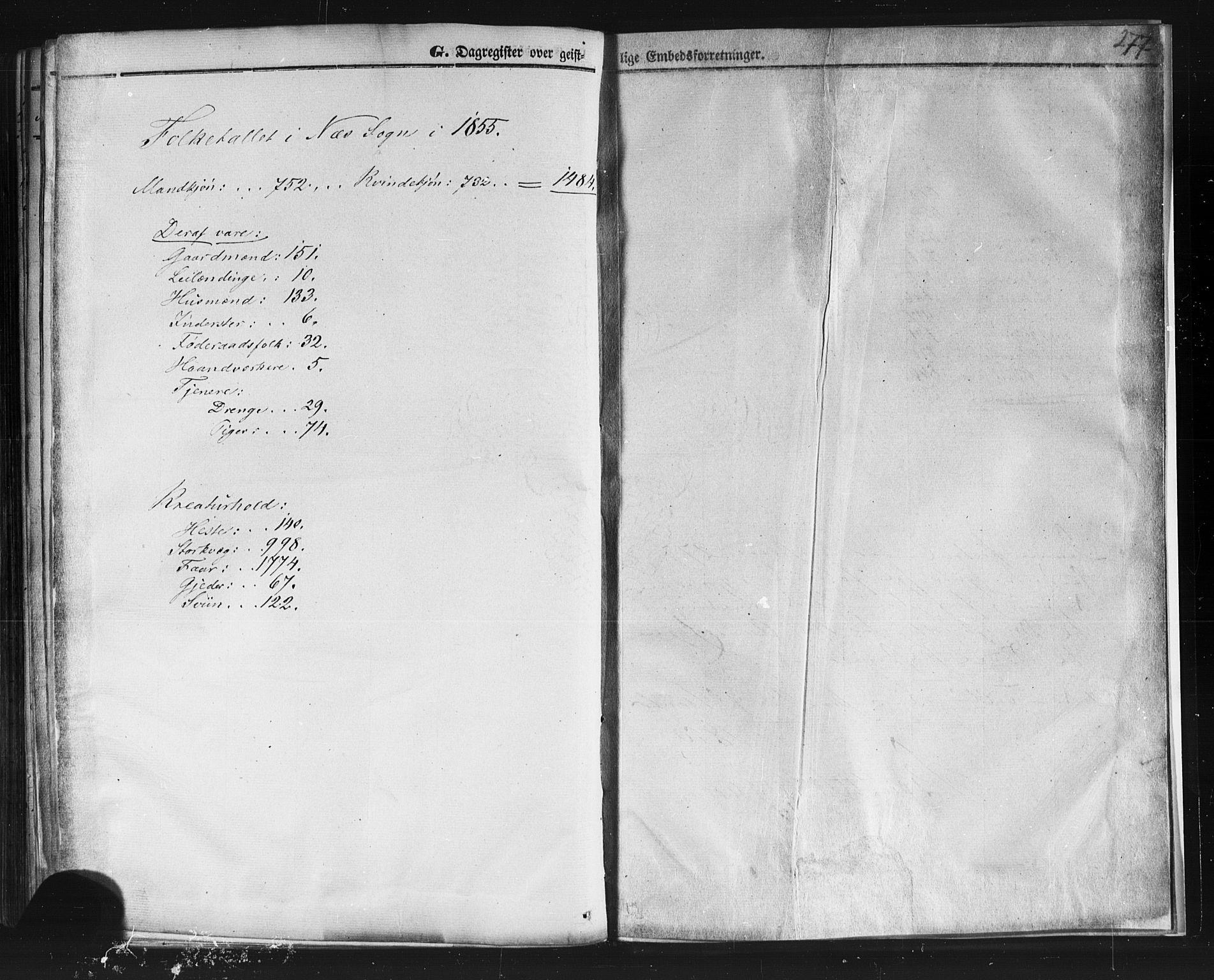 SAKO, Sauherad kirkebøker, F/Fb/L0001: Ministerialbok nr. II 1, 1851-1877, s. 277