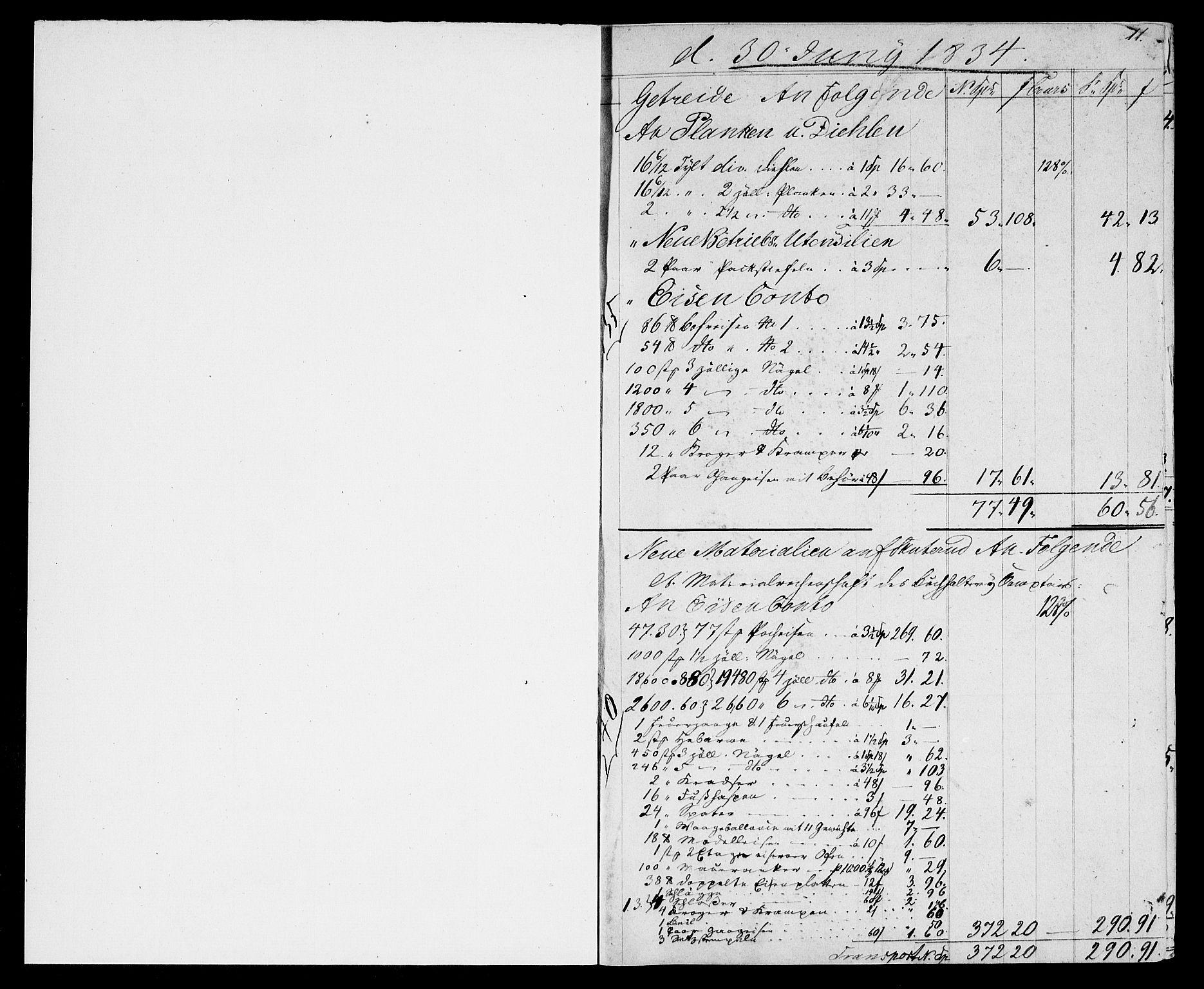RA, Modums Blaafarveværk, G/Gd/Gda/L0171, 1834-1838, s. 2