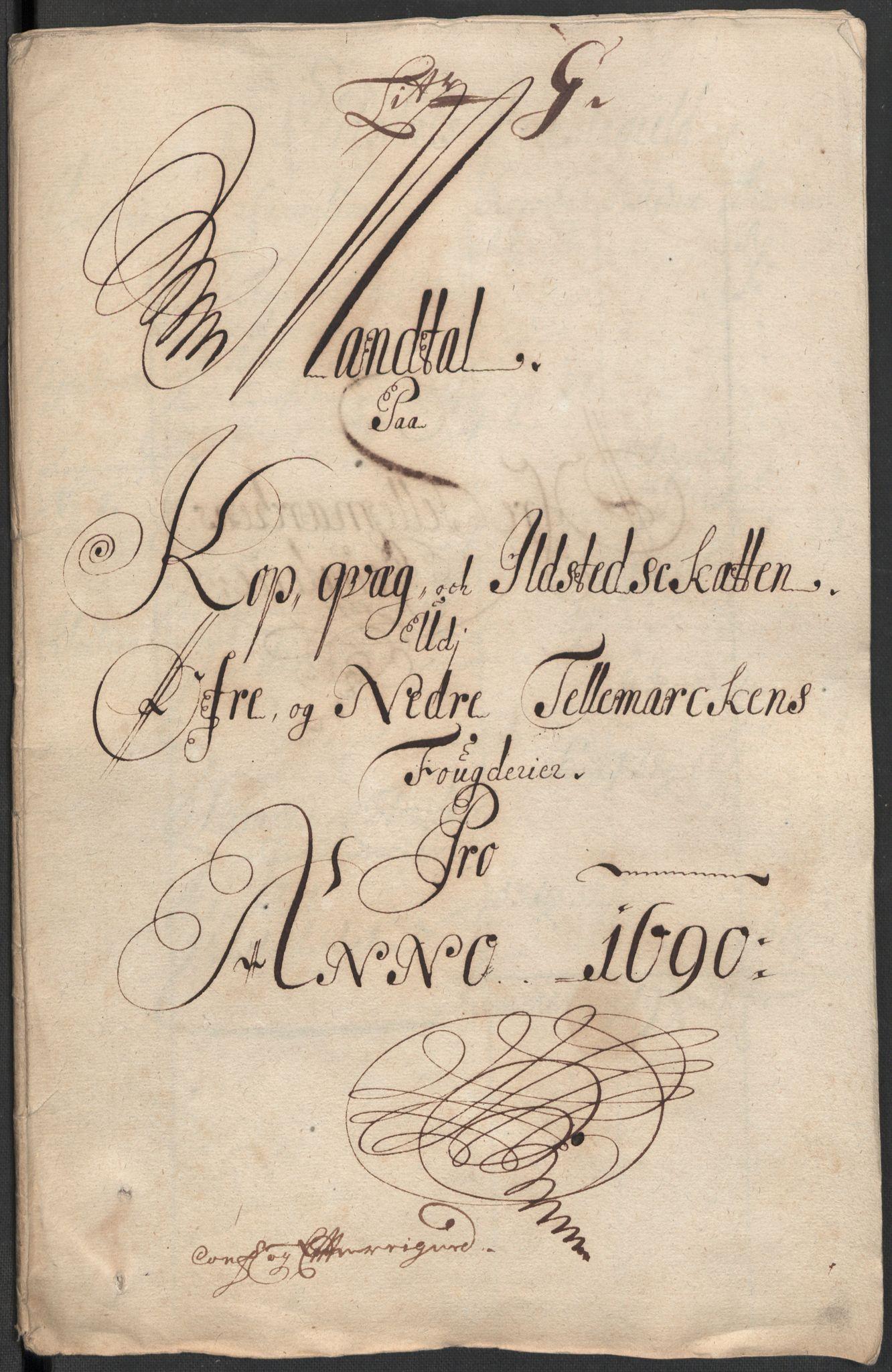 RA, Rentekammeret inntil 1814, Reviderte regnskaper, Fogderegnskap, R35/L2089: Fogderegnskap Øvre og Nedre Telemark, 1690-1692, s. 111