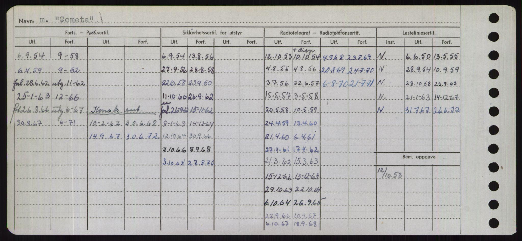 RA, Sjøfartsdirektoratet med forløpere, Skipsmålingen, H/Hd/L0008: Fartøy, C-D, s. 130