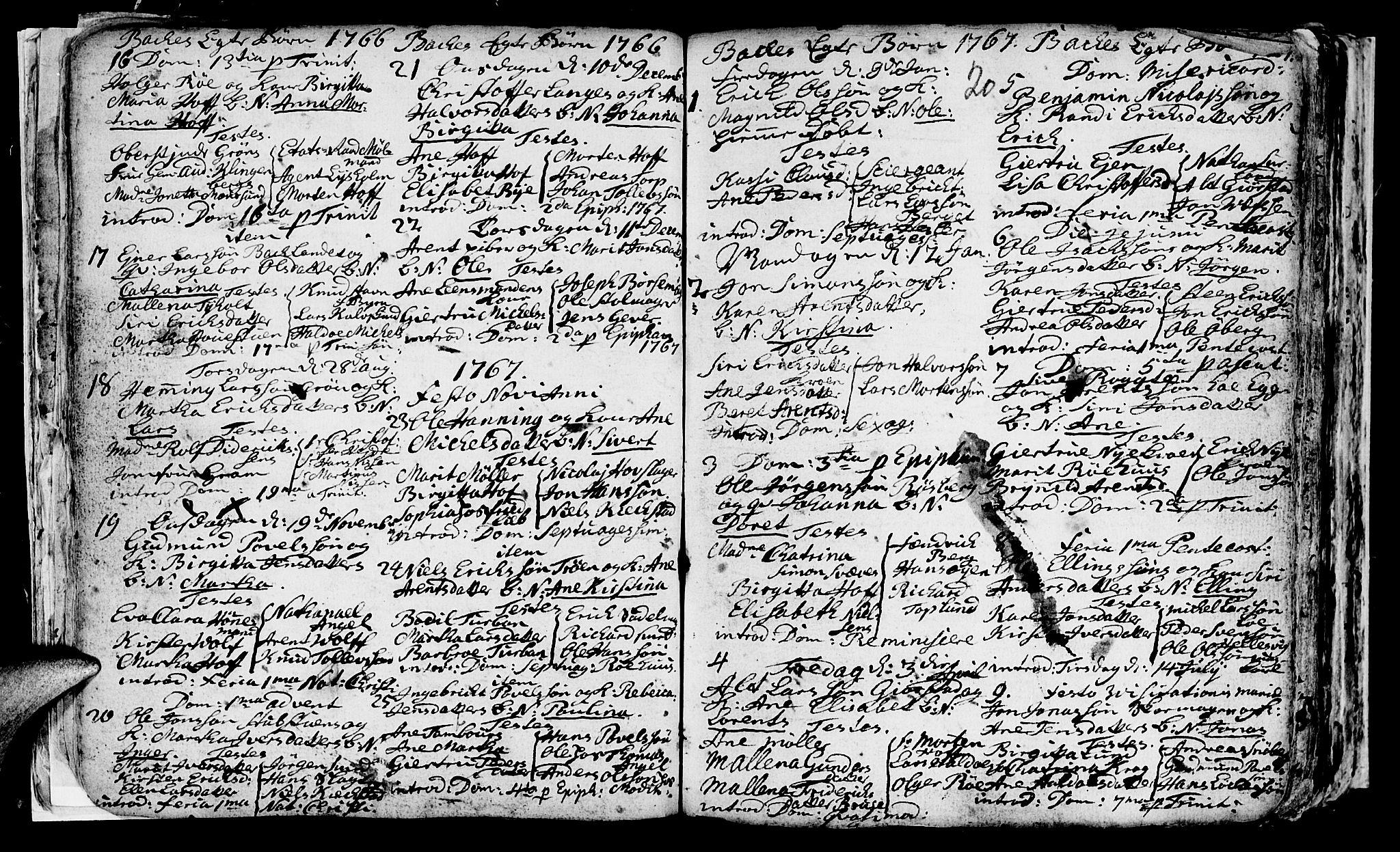 SAT, Ministerialprotokoller, klokkerbøker og fødselsregistre - Sør-Trøndelag, 604/L0218: Klokkerbok nr. 604C01, 1754-1819, s. 20