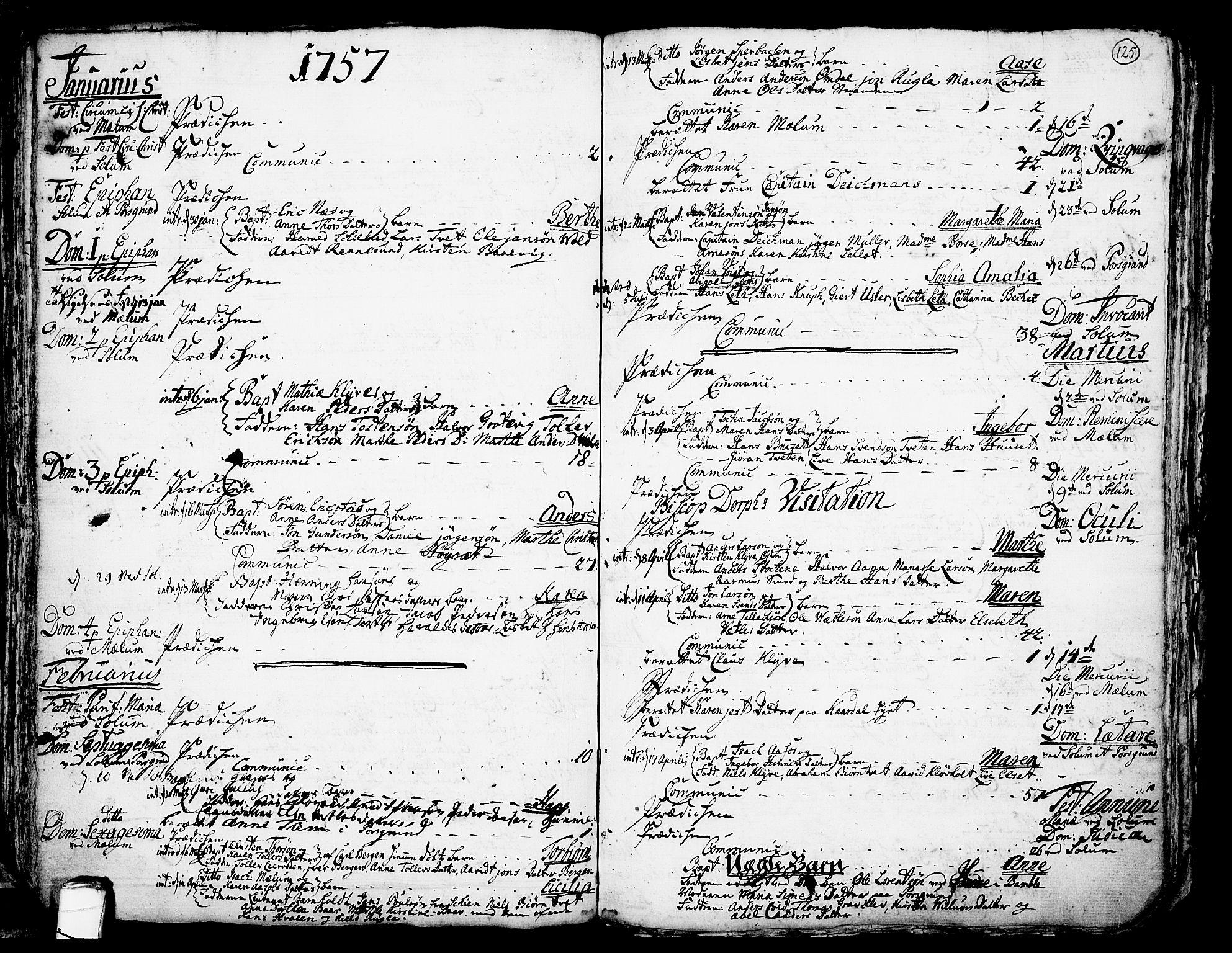 SAKO, Solum kirkebøker, F/Fa/L0002: Ministerialbok nr. I 2, 1713-1761, s. 125