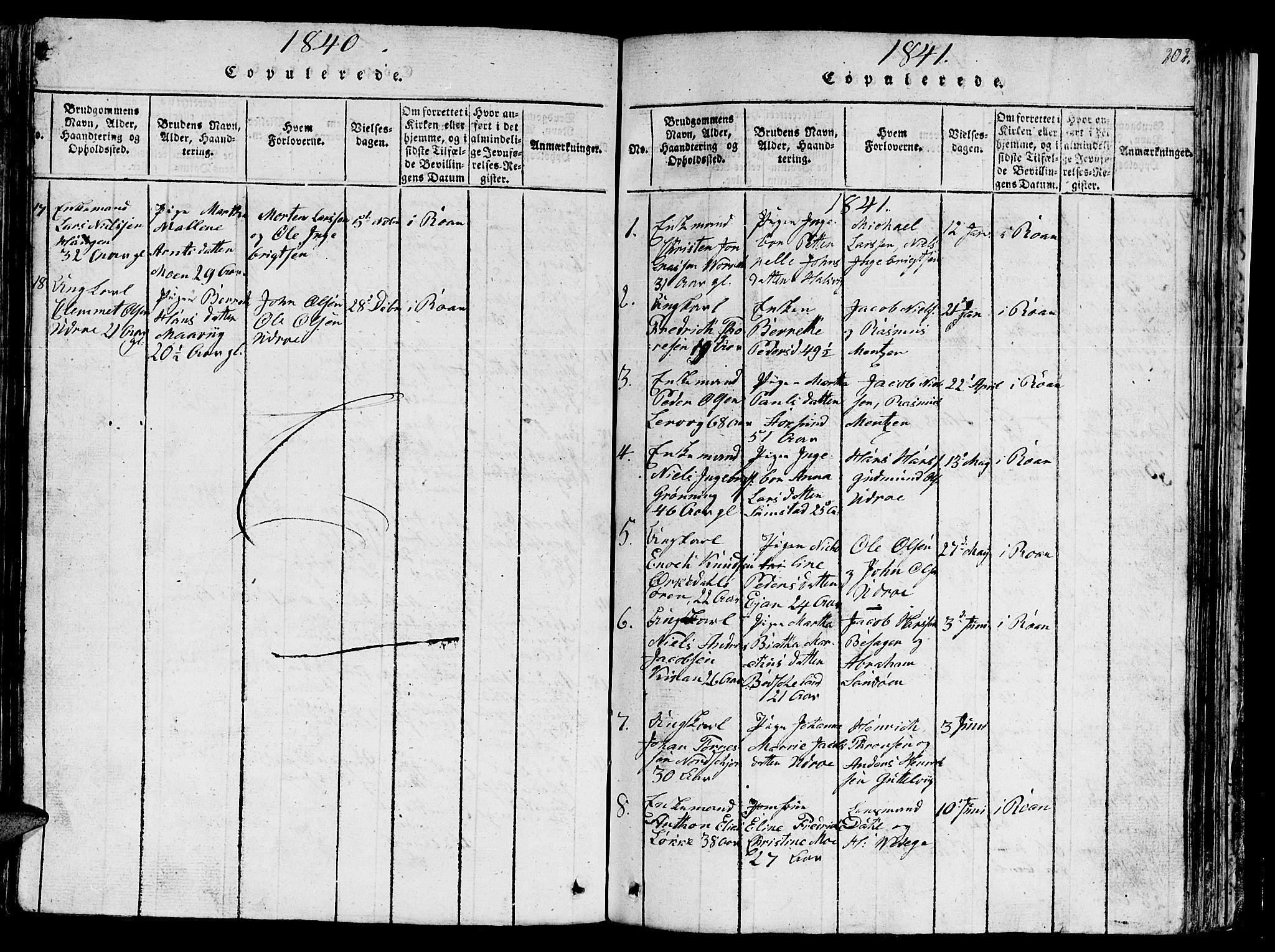 SAT, Ministerialprotokoller, klokkerbøker og fødselsregistre - Sør-Trøndelag, 657/L0714: Klokkerbok nr. 657C01, 1818-1868, s. 202
