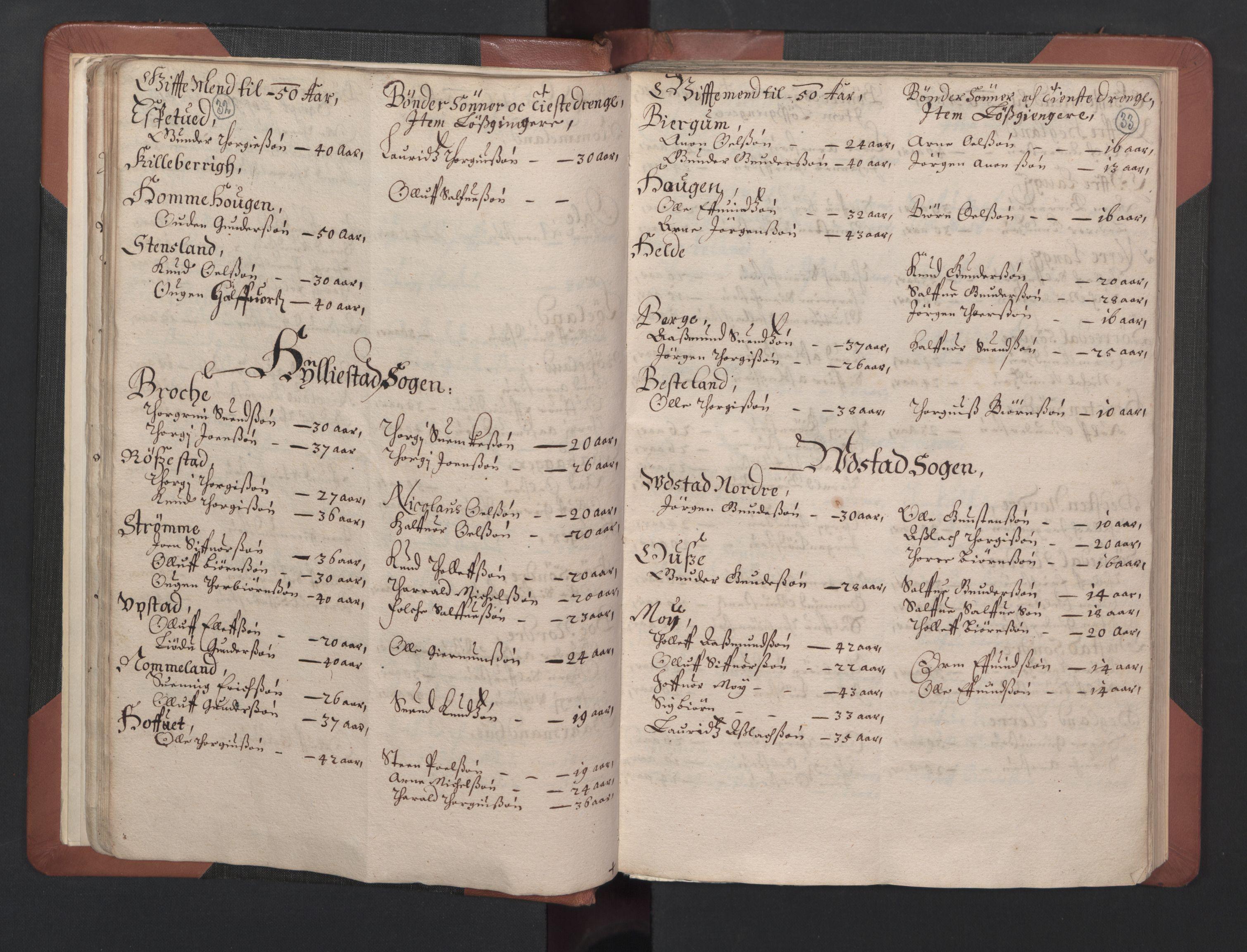 RA, Fogdenes og sorenskrivernes manntall 1664-1666, nr. 8: Råbyggelaget fogderi, 1664-1665, s. 32-33