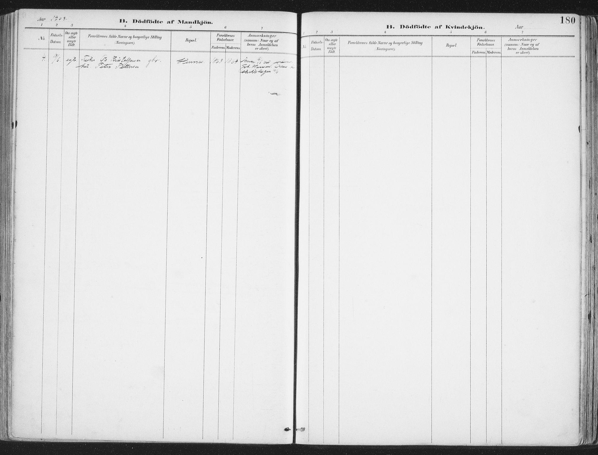SAT, Ministerialprotokoller, klokkerbøker og fødselsregistre - Nordland, 888/L1246: Ministerialbok nr. 888A12, 1891-1903, s. 180