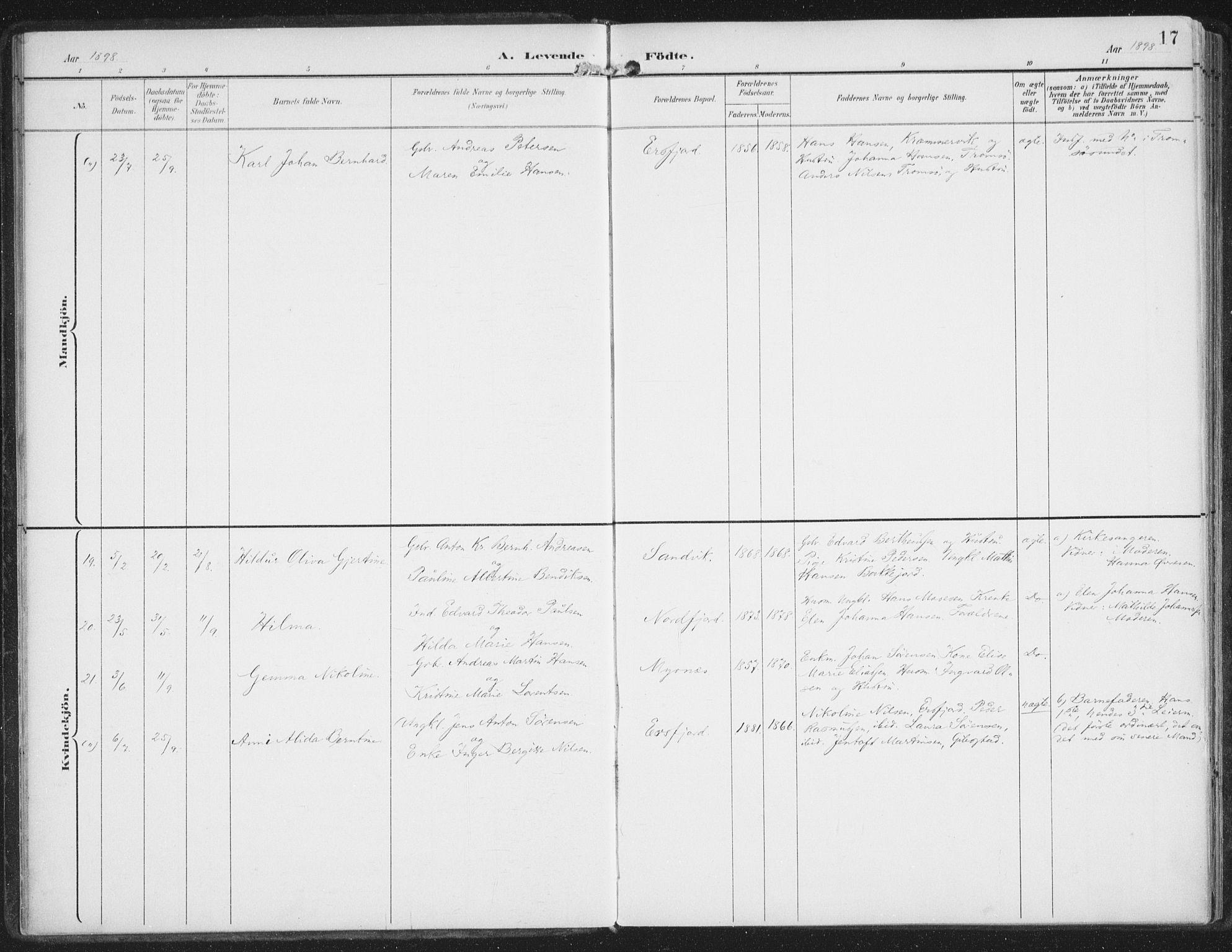 SATØ, Lenvik sokneprestembete, H/Ha: Ministerialbok nr. 15, 1896-1915, s. 17