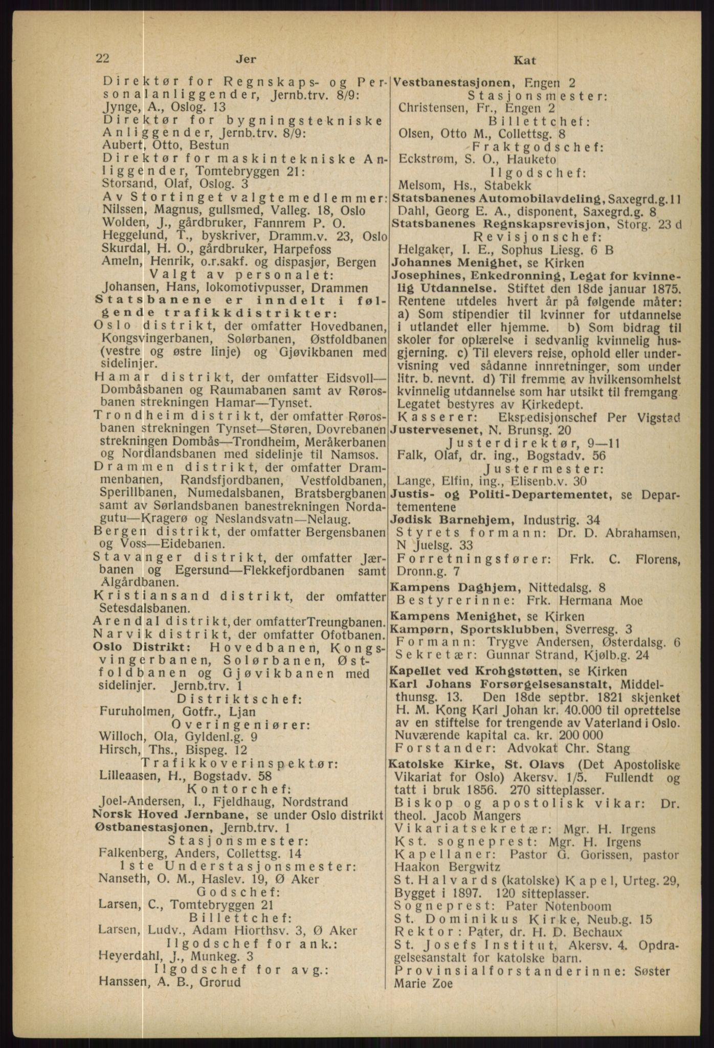 RA, Oslo adressebok (publikasjon)*, 1936, s. 22