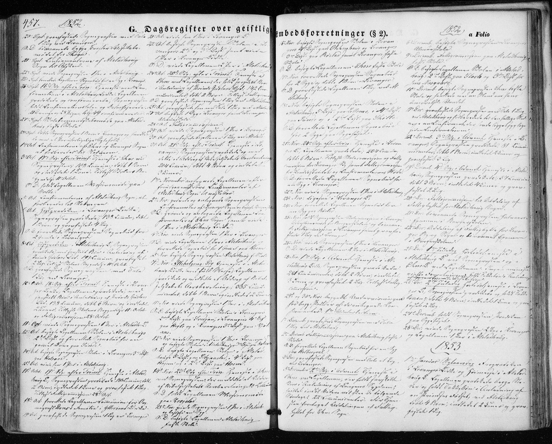 SAT, Ministerialprotokoller, klokkerbøker og fødselsregistre - Nord-Trøndelag, 717/L0154: Ministerialbok nr. 717A07 /1, 1850-1862, s. 457