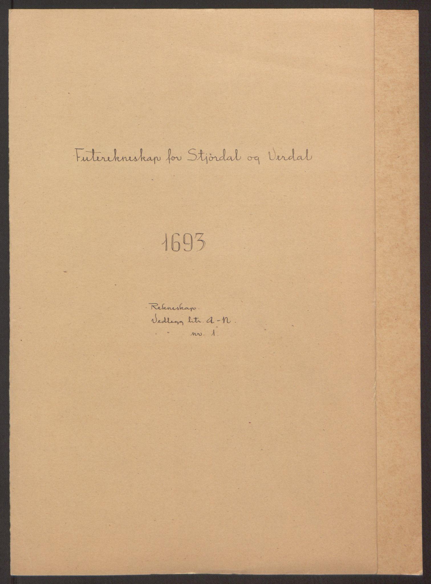 RA, Rentekammeret inntil 1814, Reviderte regnskaper, Fogderegnskap, R62/L4186: Fogderegnskap Stjørdal og Verdal, 1693-1694, s. 2