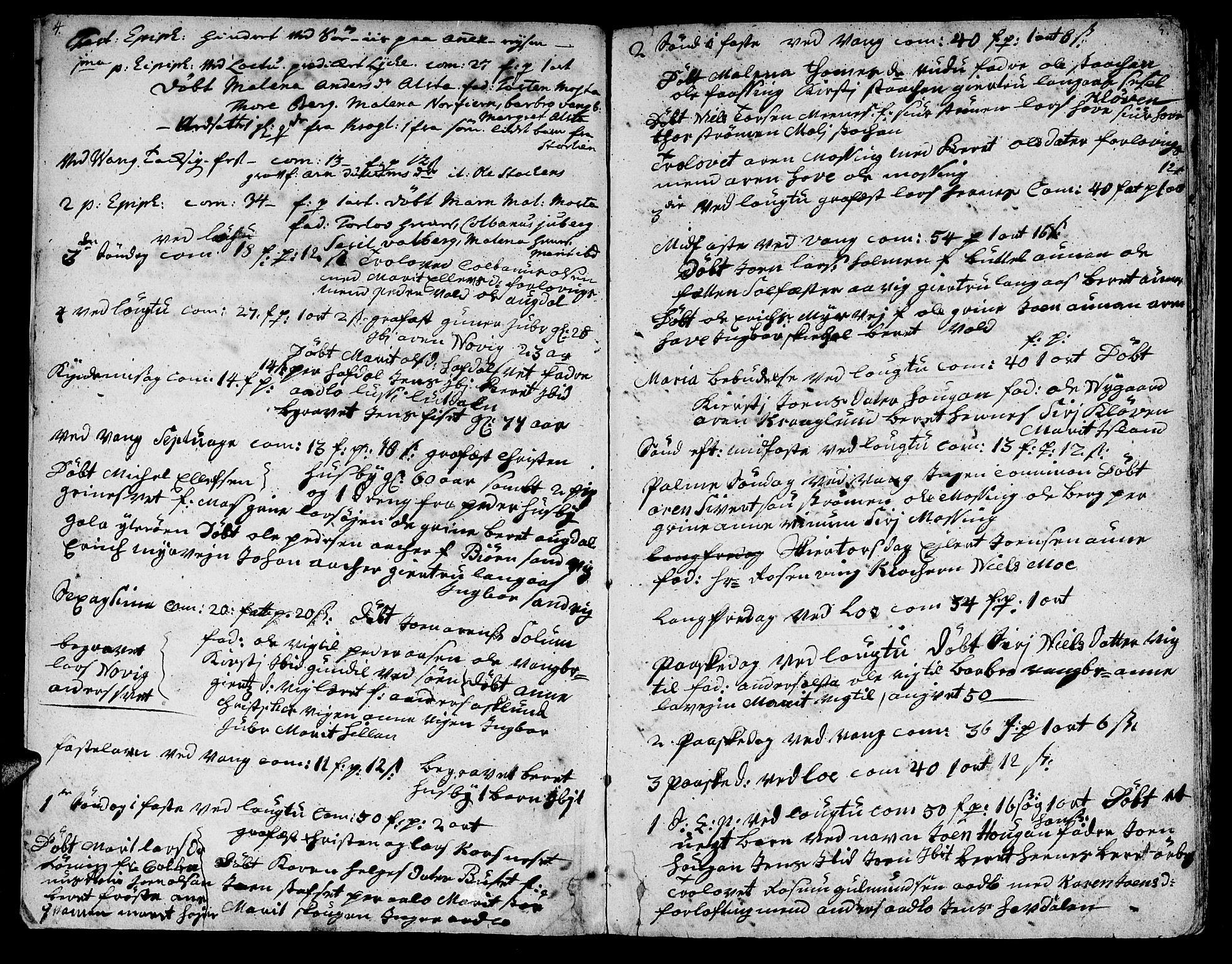 SAT, Ministerialprotokoller, klokkerbøker og fødselsregistre - Nord-Trøndelag, 713/L0109: Ministerialbok nr. 713A01, 1750-1778, s. 4-5