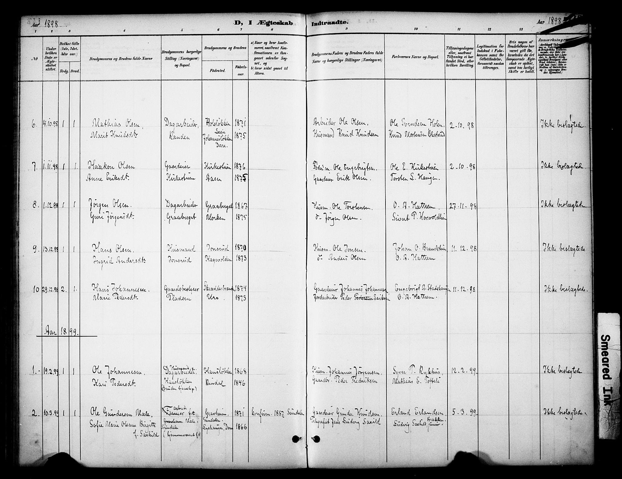 SAH, Dovre prestekontor, Ministerialbok nr. 3, 1891-1901, s. 142