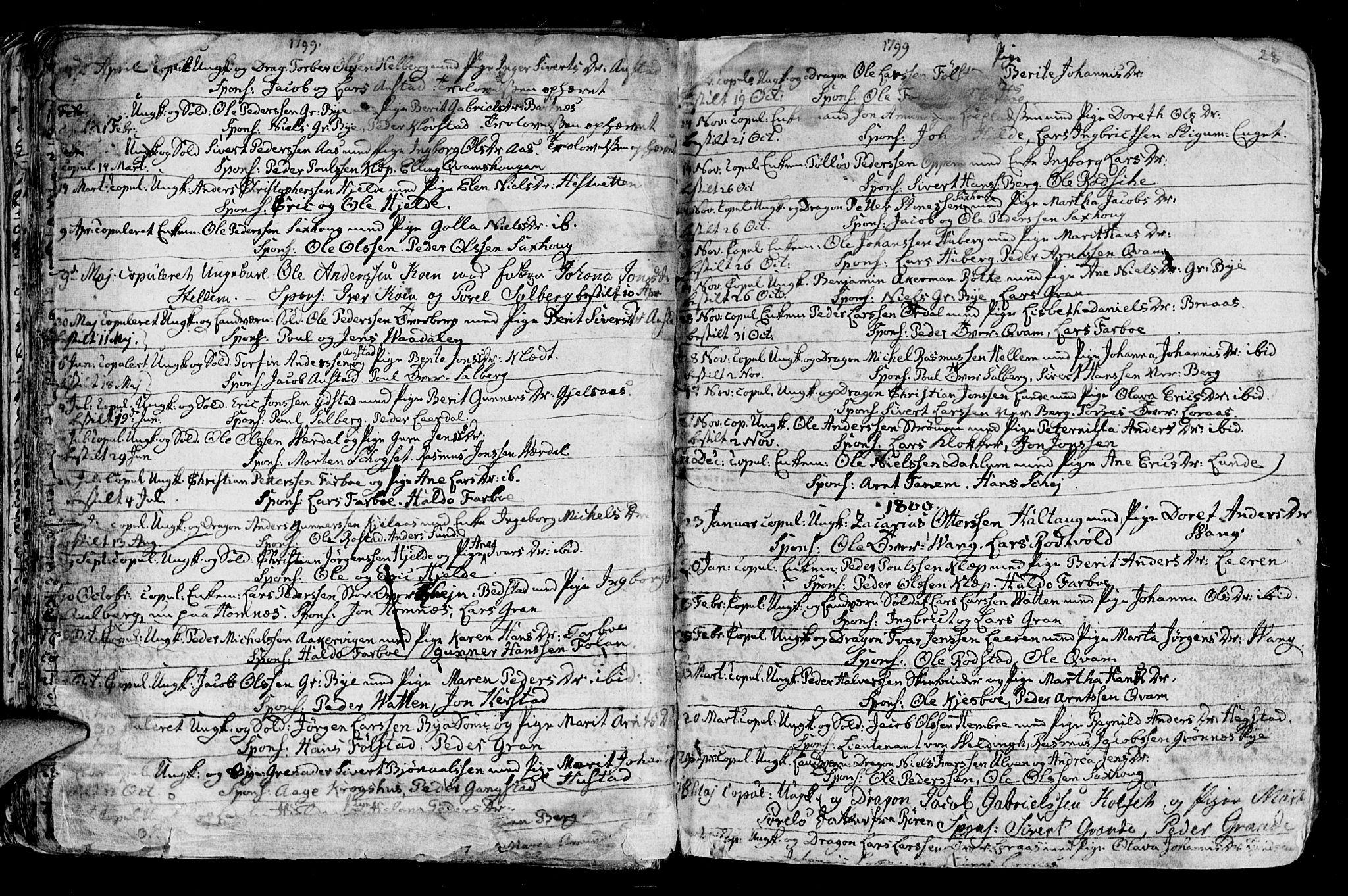 SAT, Ministerialprotokoller, klokkerbøker og fødselsregistre - Nord-Trøndelag, 730/L0273: Ministerialbok nr. 730A02, 1762-1802, s. 28