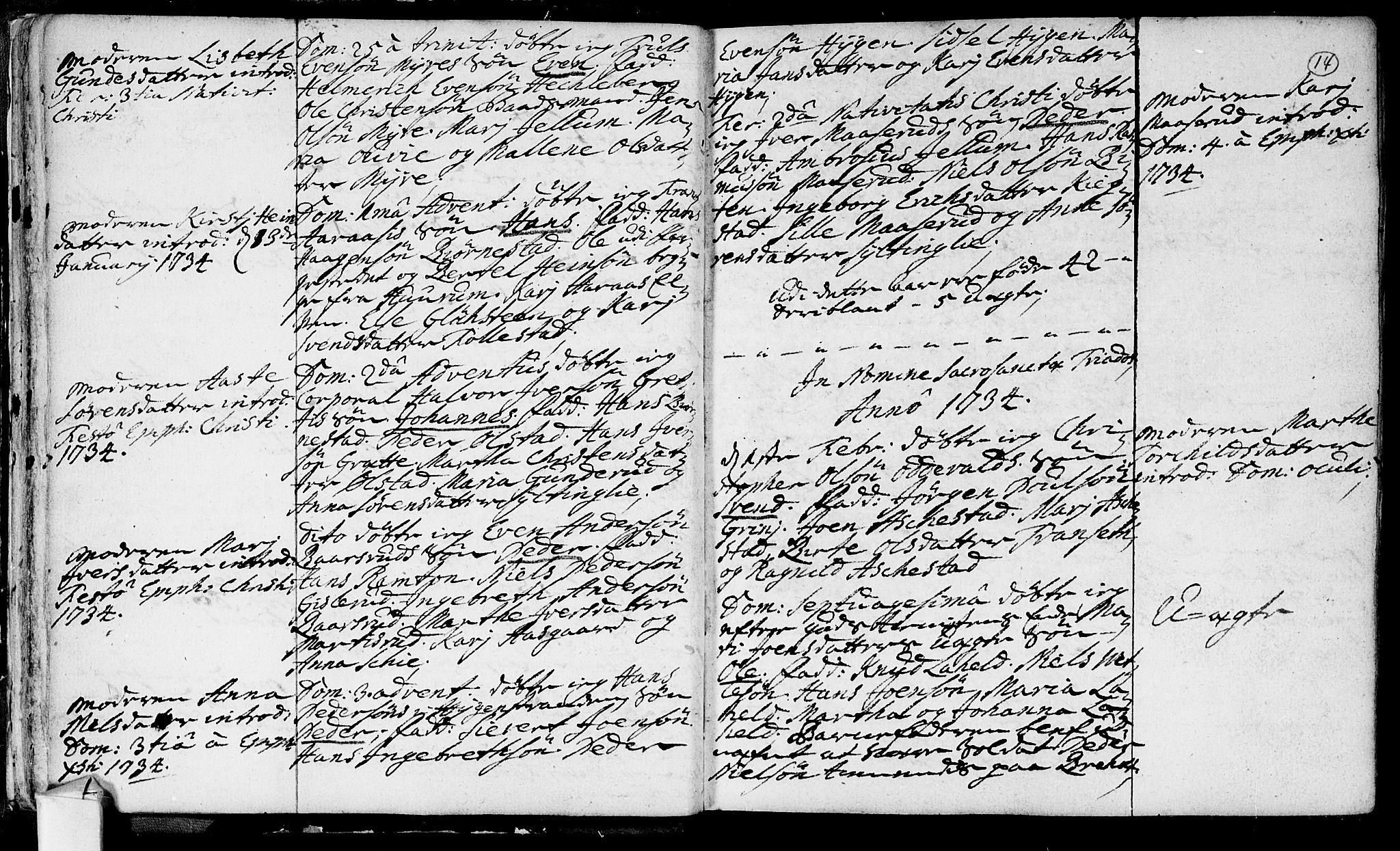 SAKO, Røyken kirkebøker, F/Fa/L0002: Ministerialbok nr. 2, 1731-1782, s. 14