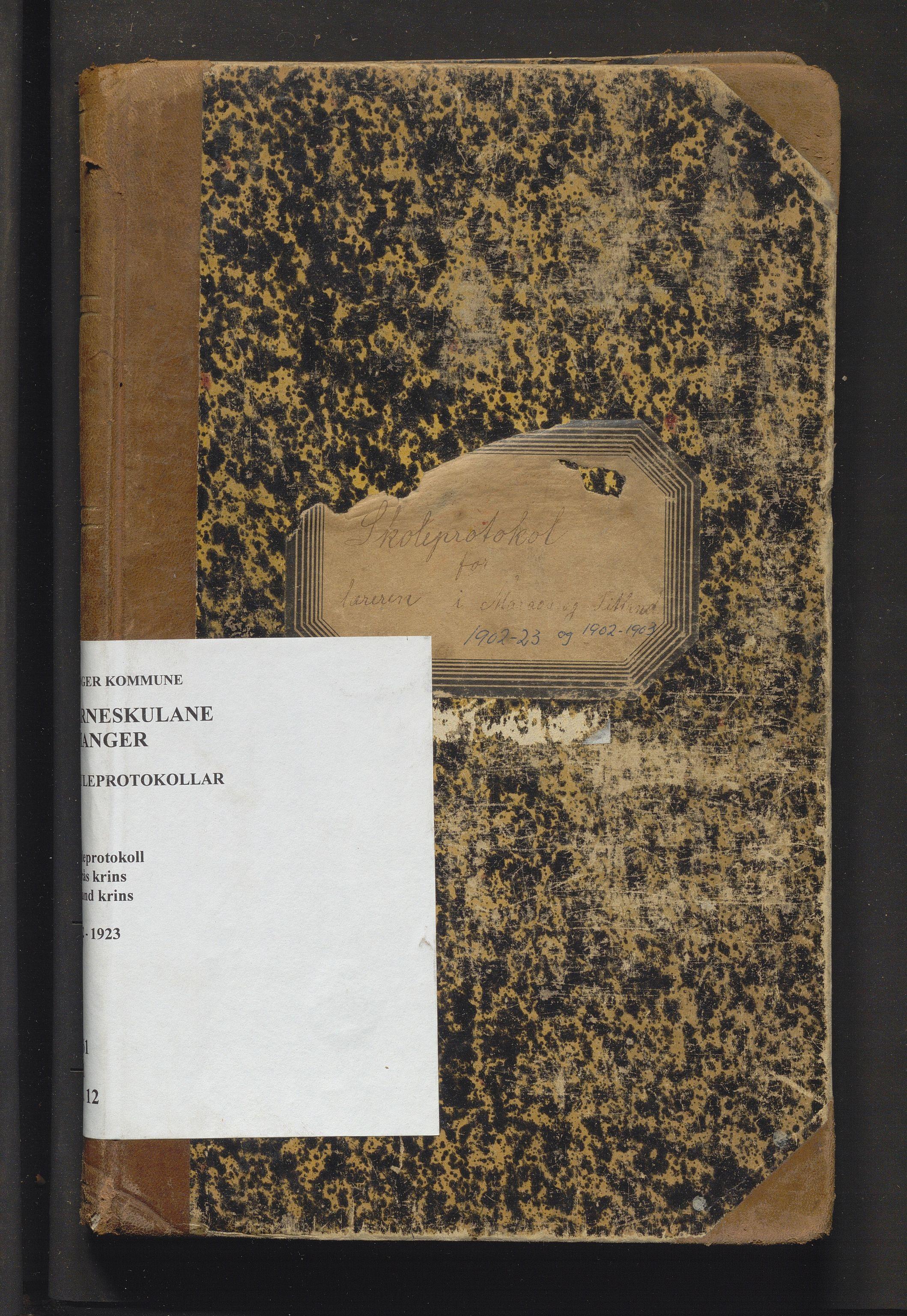 IKAH, Manger kommune. Barneskulane, F/Fa/L0012: Skuleprotokoll for Marås og Titland krinsar , 1902-1923
