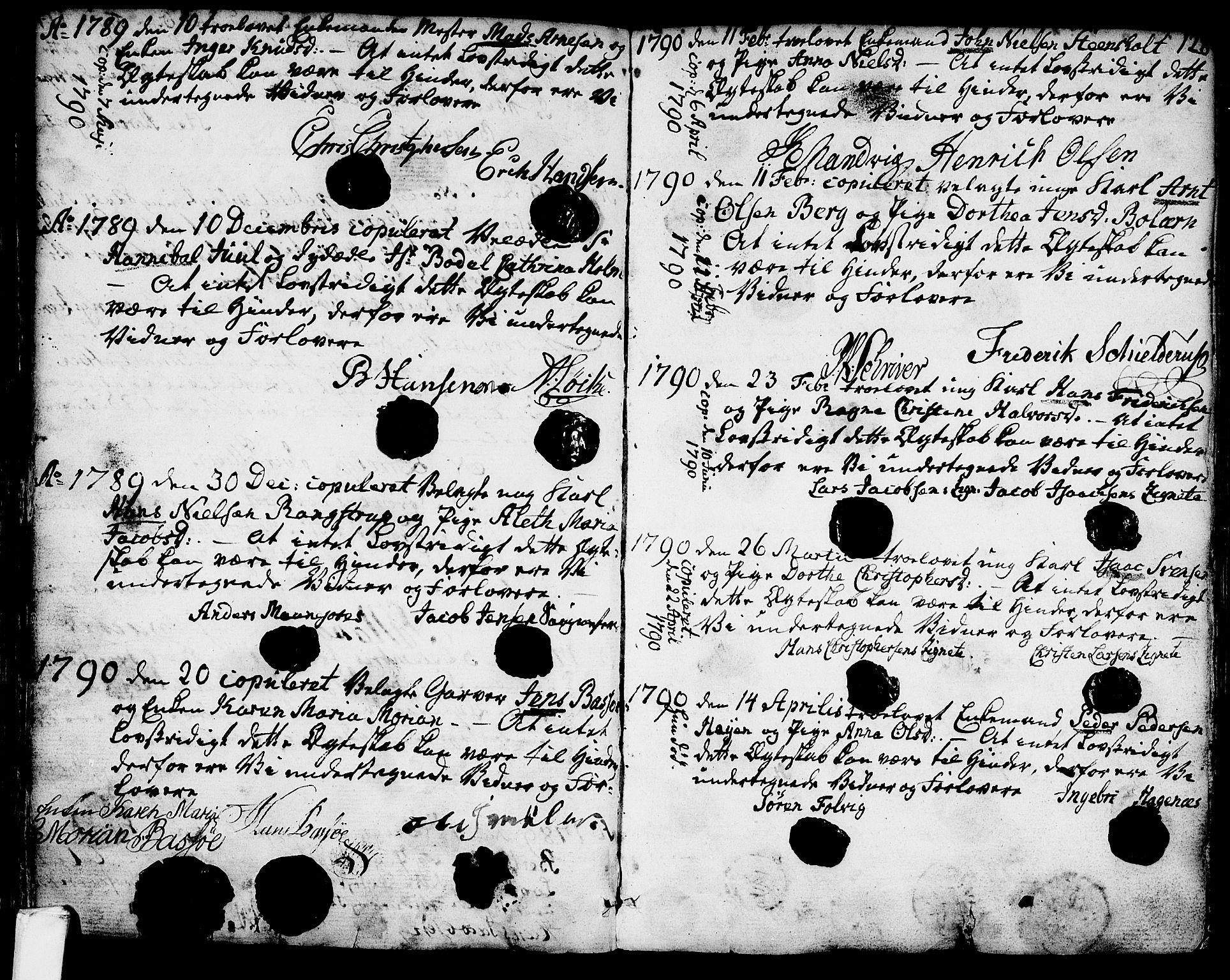 SAKO, Larvik kirkebøker, G/Ga/L0001: Klokkerbok nr. I 1, 1785-1807, s. 128