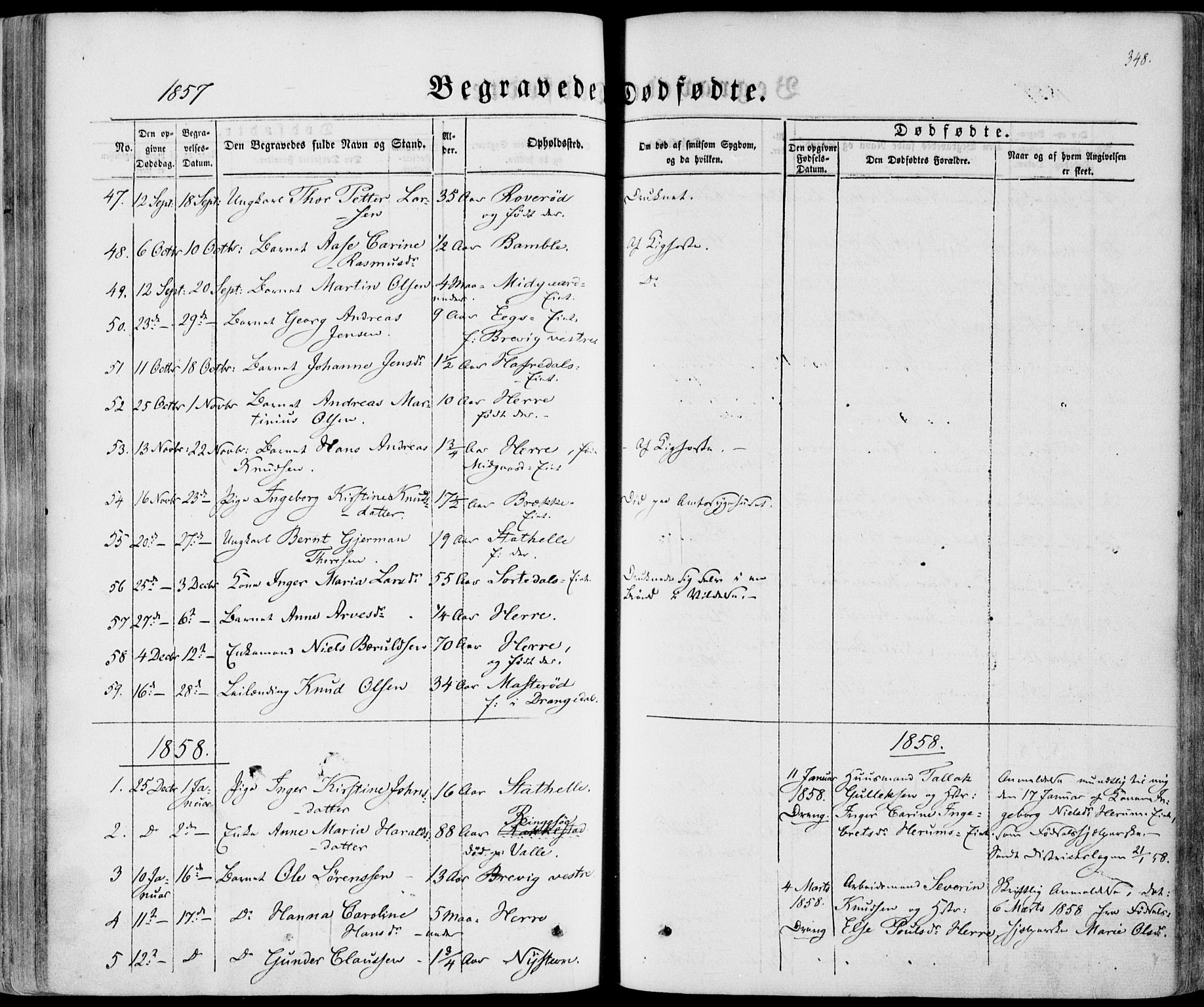 SAKO, Bamble kirkebøker, F/Fa/L0005: Ministerialbok nr. I 5, 1854-1869, s. 348