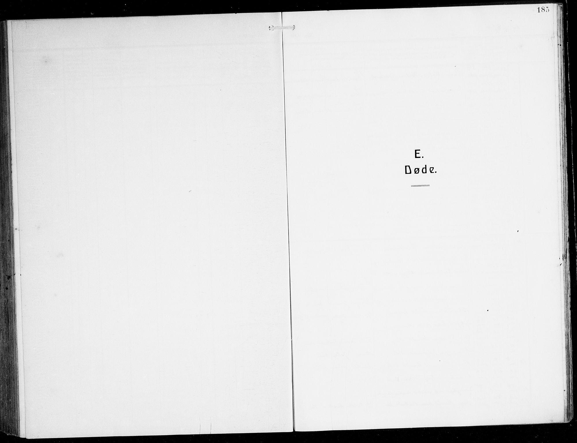 SAB, Herdla Sokneprestembete, H/Hab: Klokkerbok nr. C 2, 1913-1926, s. 185