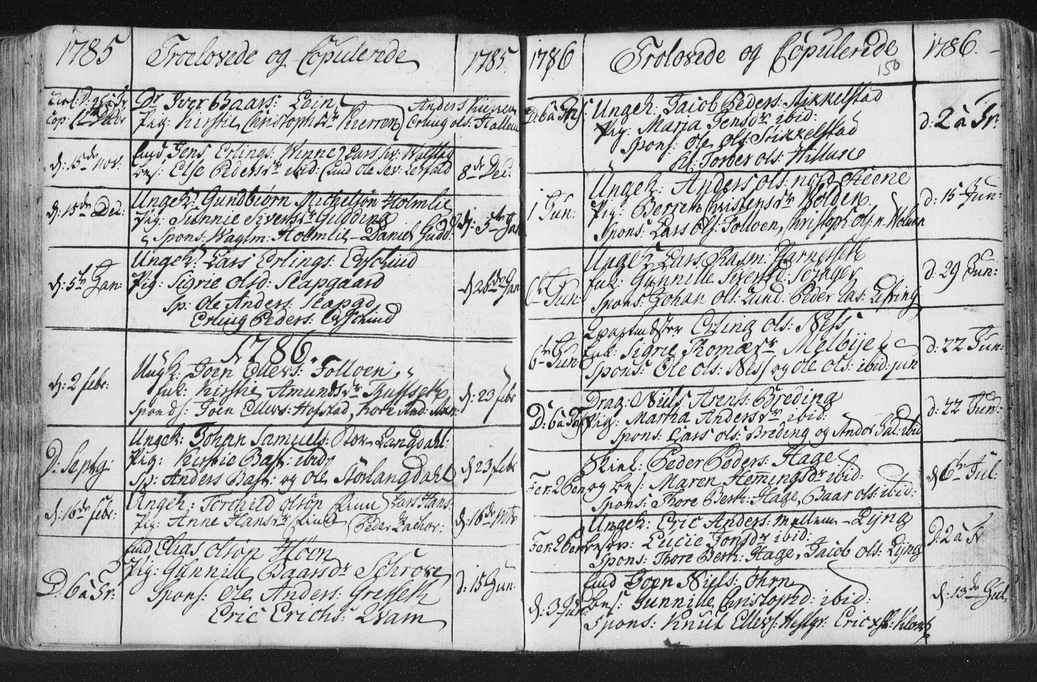 SAT, Ministerialprotokoller, klokkerbøker og fødselsregistre - Nord-Trøndelag, 723/L0232: Ministerialbok nr. 723A03, 1781-1804, s. 150