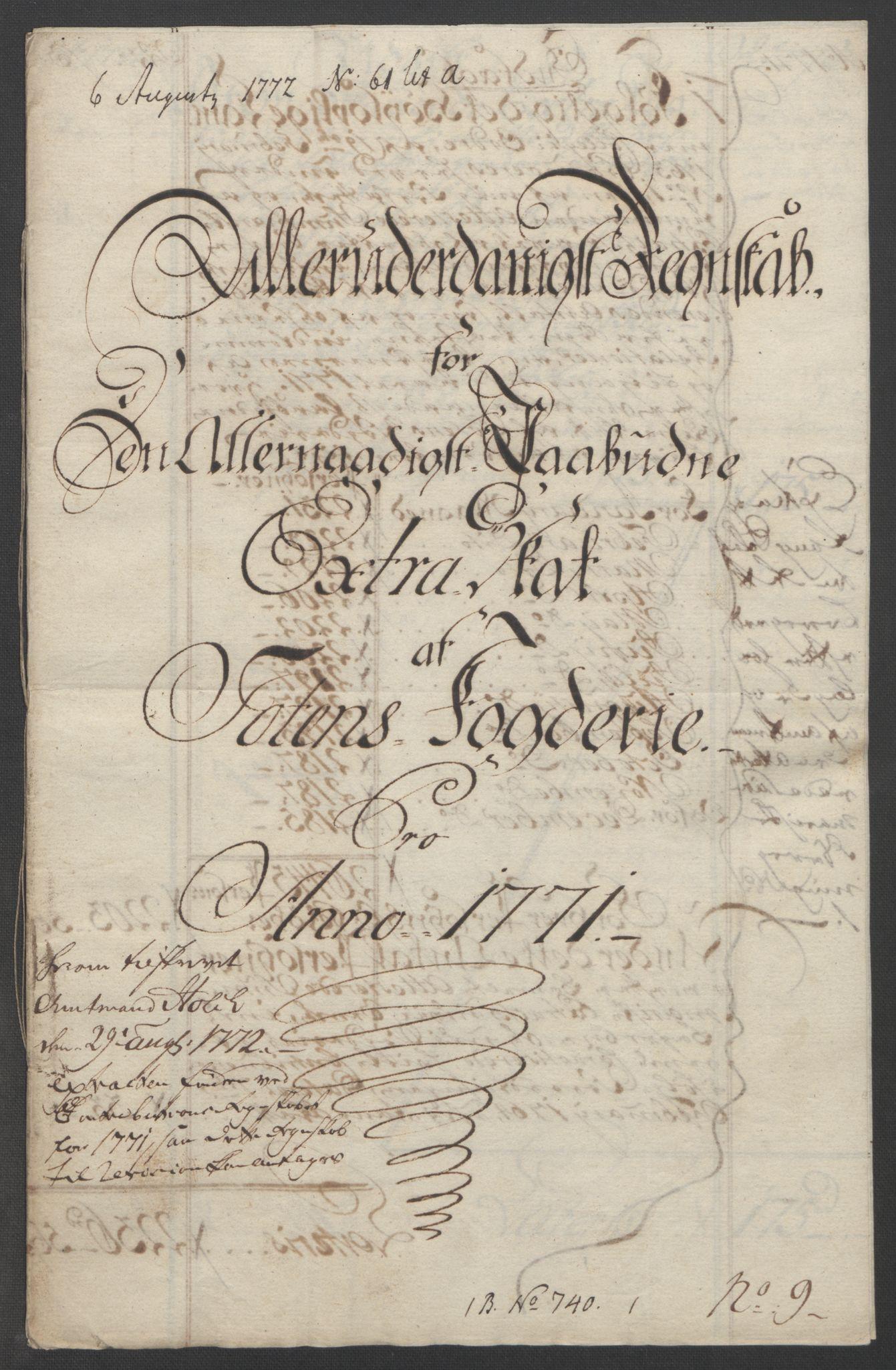 RA, Rentekammeret inntil 1814, Reviderte regnskaper, Fogderegnskap, R19/L1399: Fogderegnskap Toten, Hadeland og Vardal, 1762-1783, s. 219