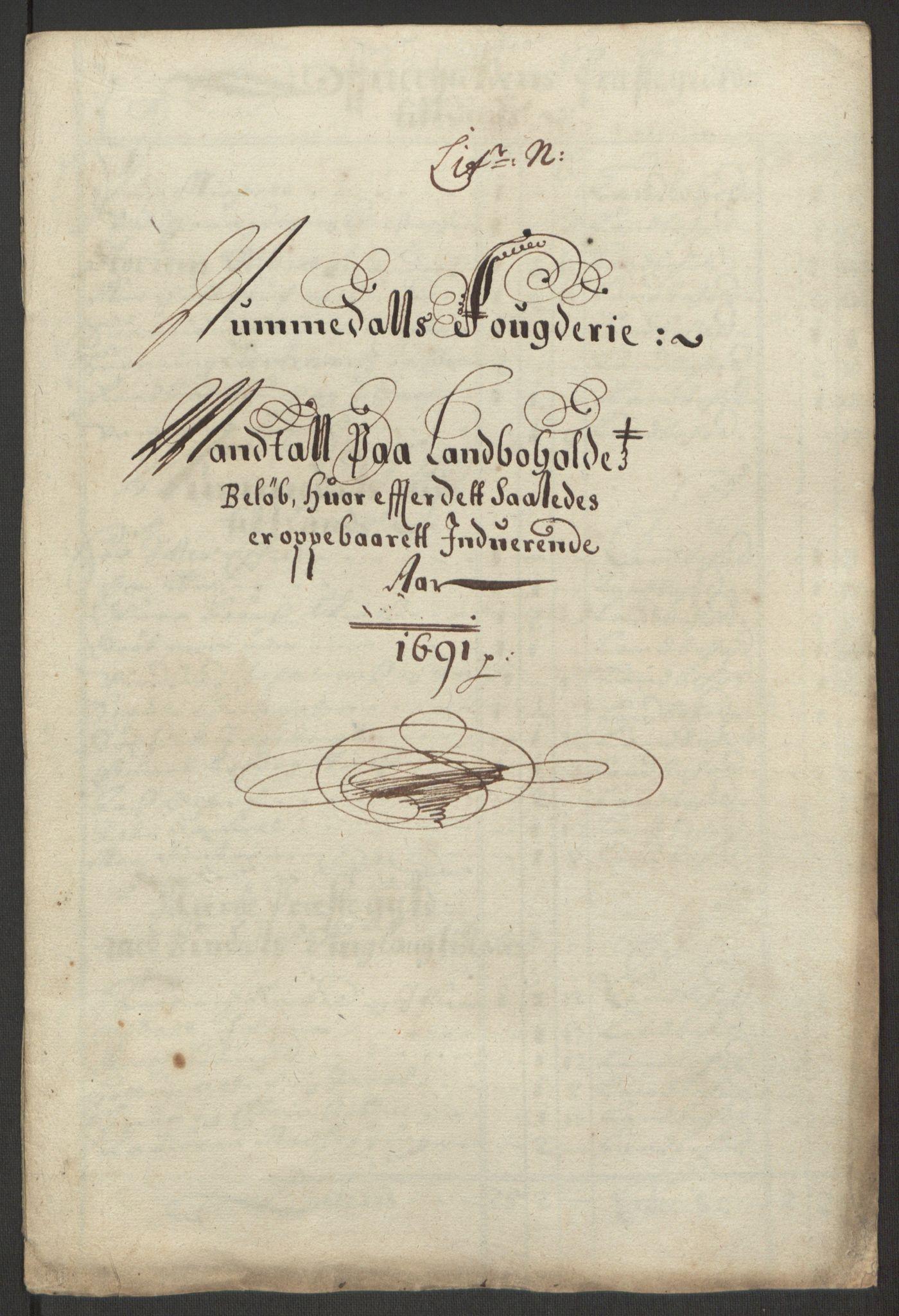 RA, Rentekammeret inntil 1814, Reviderte regnskaper, Fogderegnskap, R64/L4423: Fogderegnskap Namdal, 1690-1691, s. 291