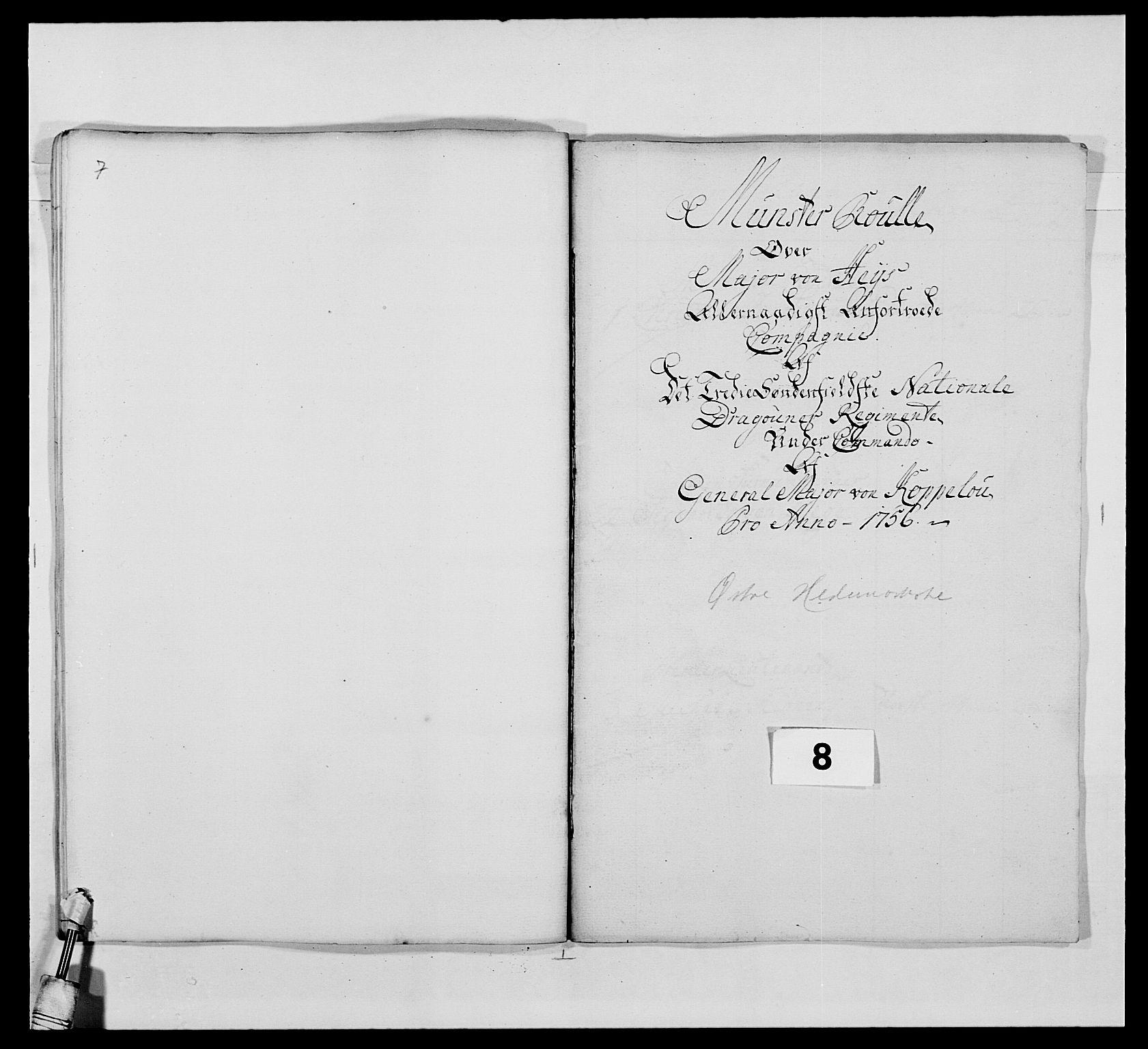 RA, Kommanderende general (KG I) med Det norske krigsdirektorium, E/Ea/L0479: 3. Sønnafjelske dragonregiment, 1756-1760, s. 141