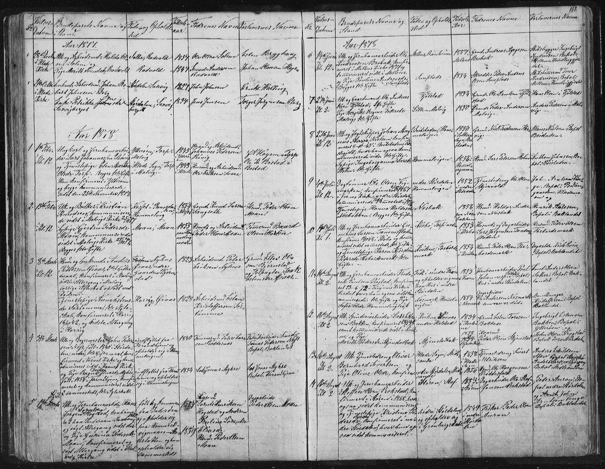 SAT, Ministerialprotokoller, klokkerbøker og fødselsregistre - Sør-Trøndelag, 616/L0406: Ministerialbok nr. 616A03, 1843-1879, s. 151