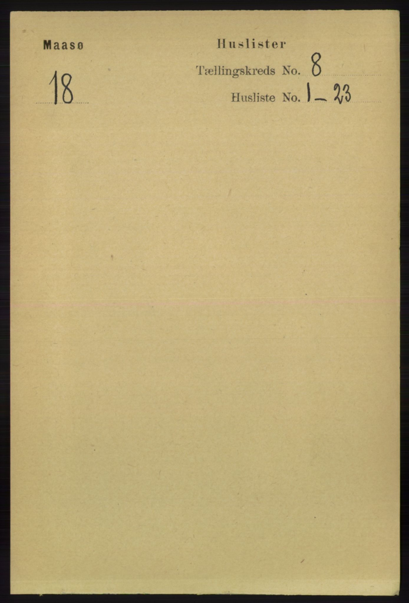 RA, Folketelling 1891 for 2018 Måsøy herred, 1891, s. 1498