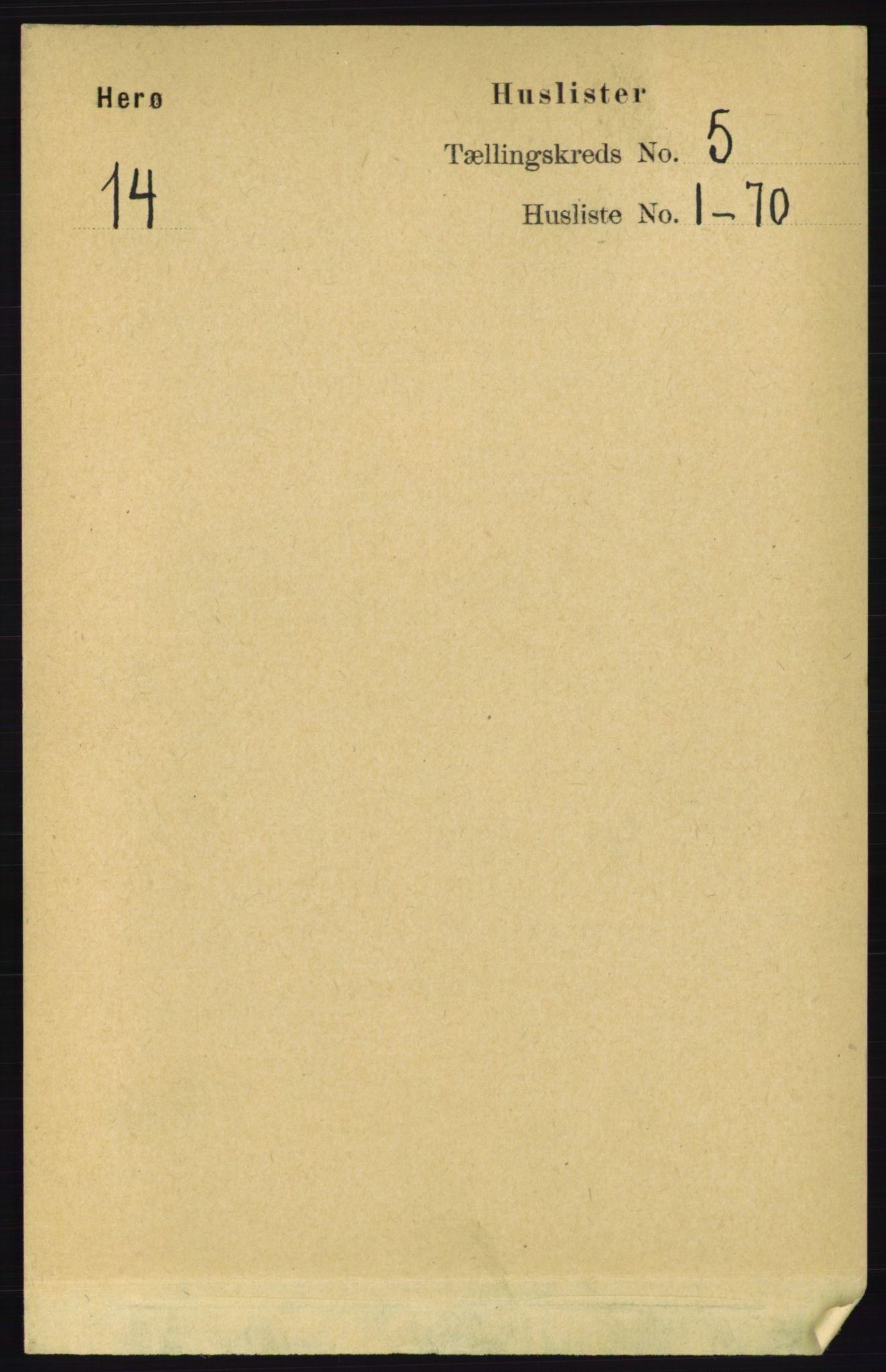 RA, Folketelling 1891 for 1818 Herøy herred, 1891, s. 1327