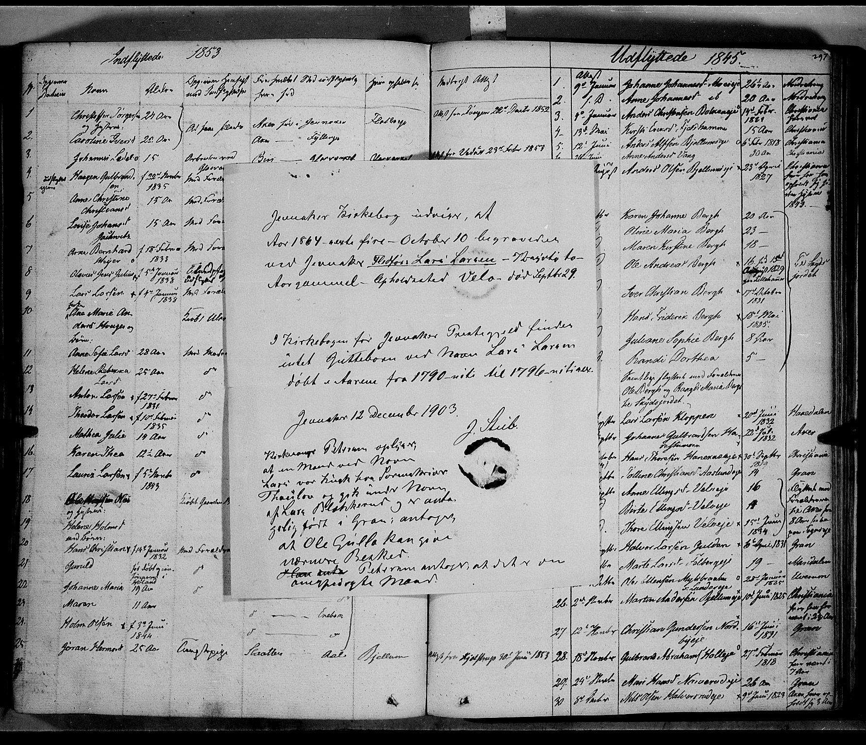 SAH, Jevnaker prestekontor, Ministerialbok nr. 6, 1837-1857, s. 297