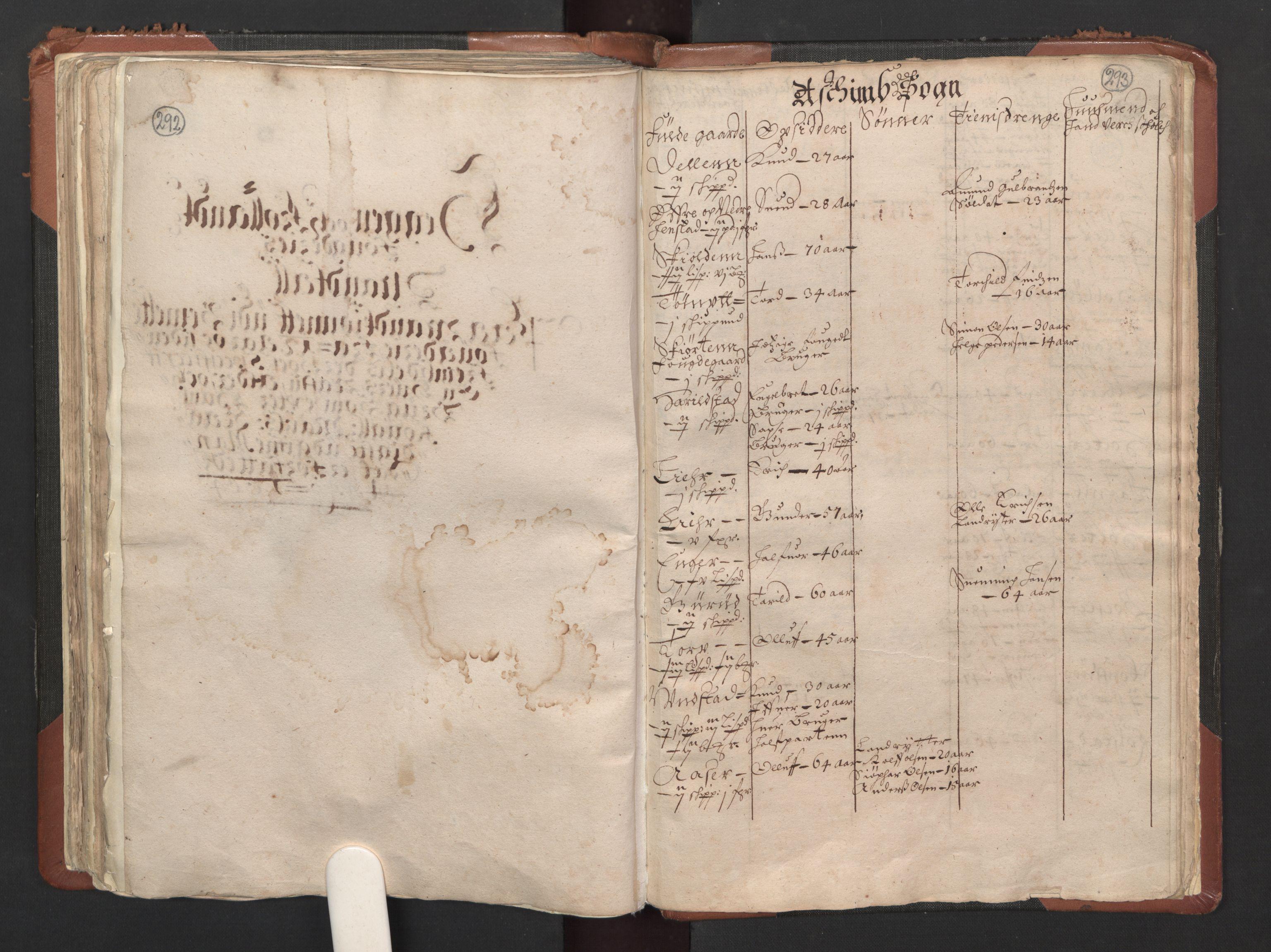 RA, Fogdenes og sorenskrivernes manntall 1664-1666, nr. 1: Fogderier (len og skipreider) i nåværende Østfold fylke, 1664, s. 292-293