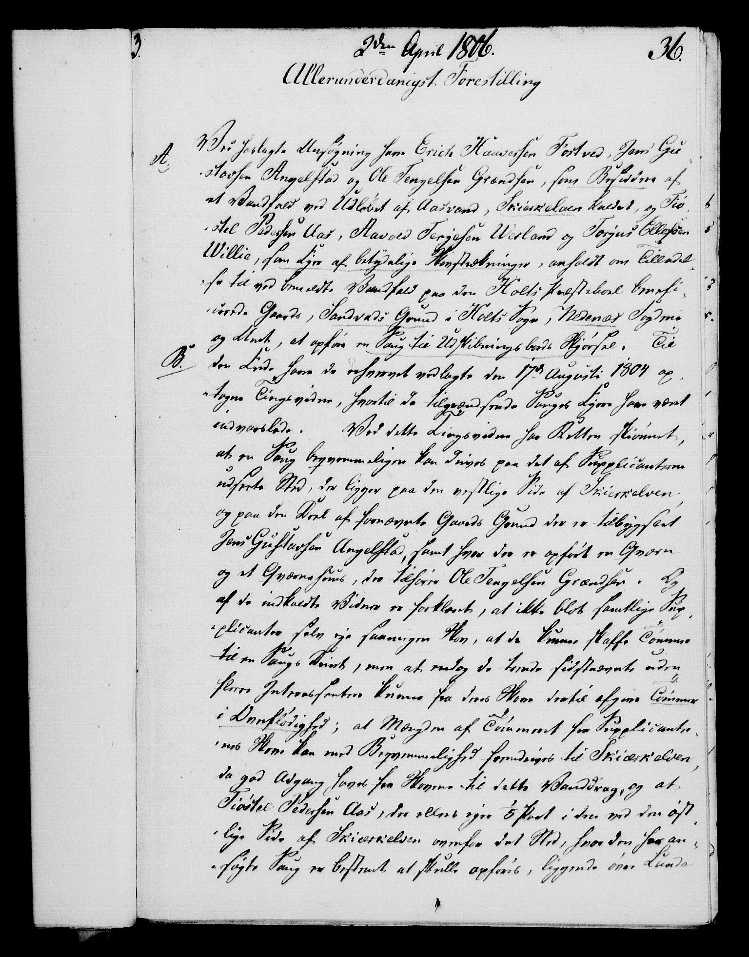 RA, Rentekammeret, Kammerkanselliet, G/Gf/Gfa/L0088: Norsk relasjons- og resolusjonsprotokoll (merket RK 52.88), 1806, s. 224