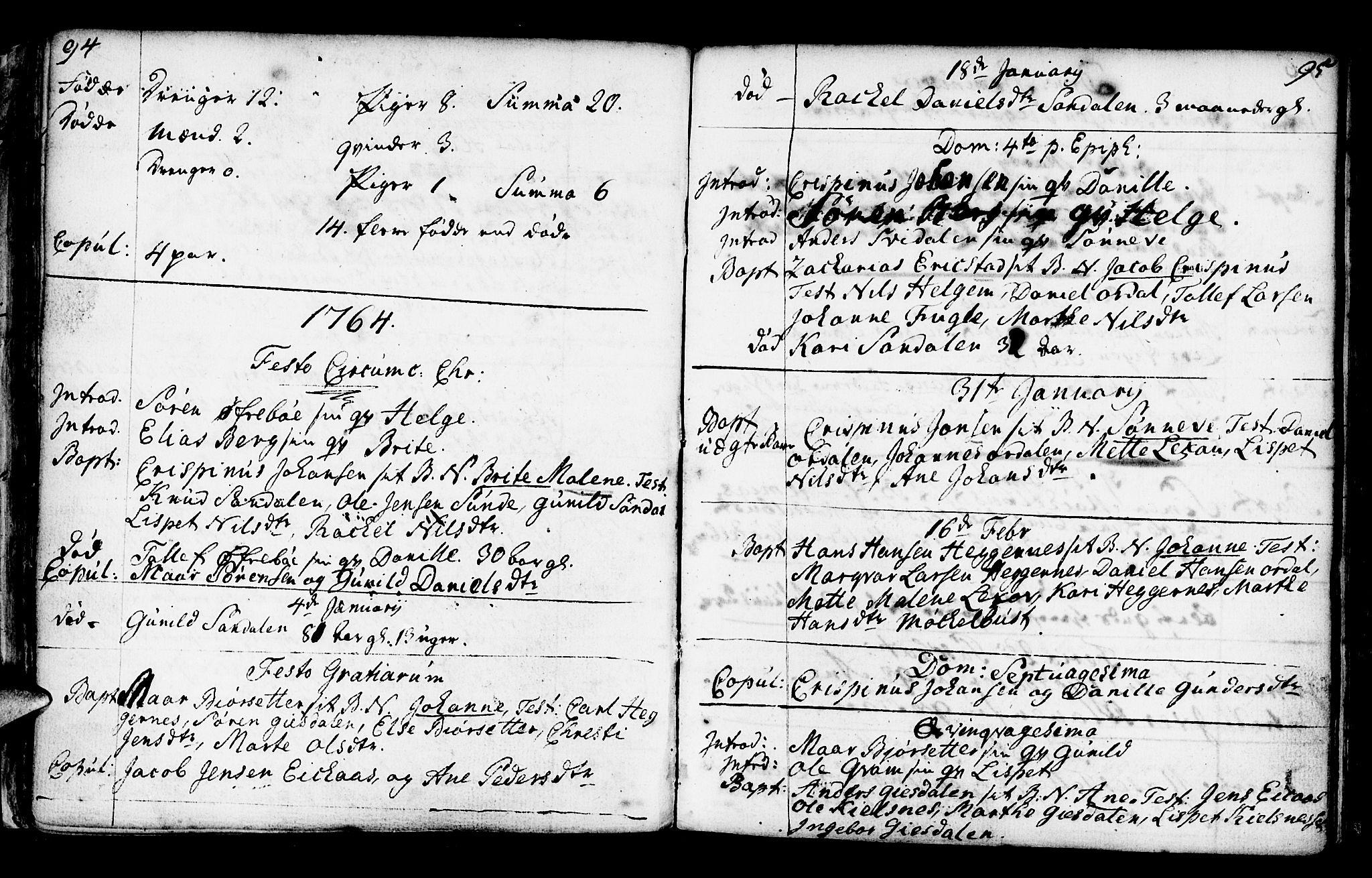 SAB, Jølster Sokneprestembete, Ministerialbok nr. A 3, 1748-1789, s. 94-95