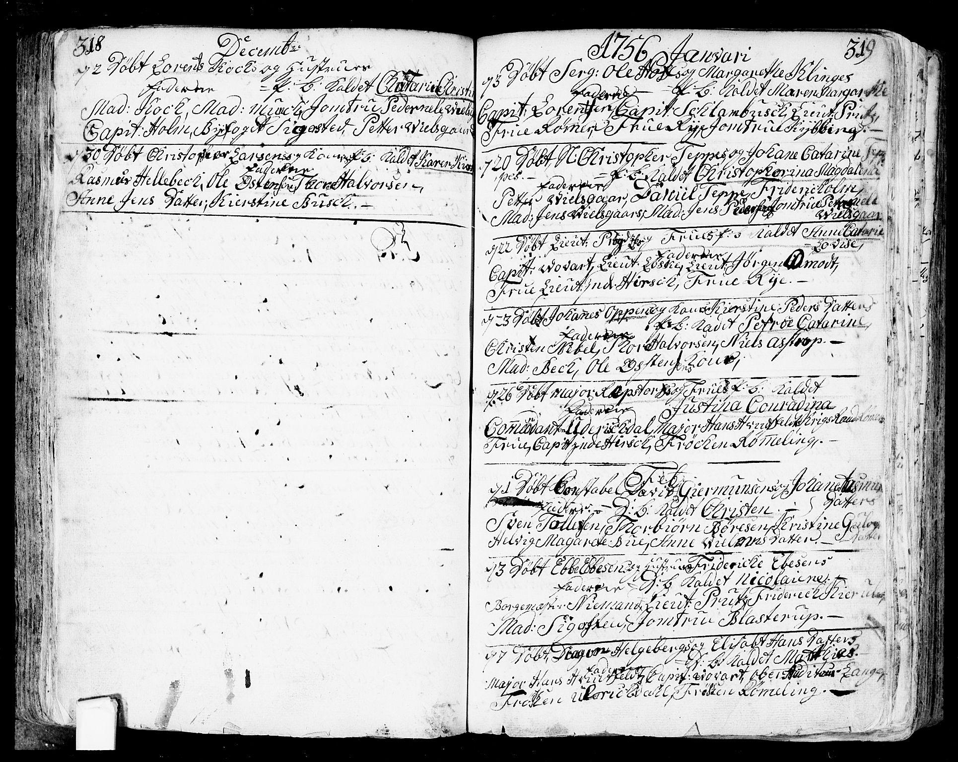 SAO, Fredrikstad prestekontor Kirkebøker, F/Fa/L0002: Ministerialbok nr. 2, 1750-1804, s. 318-319