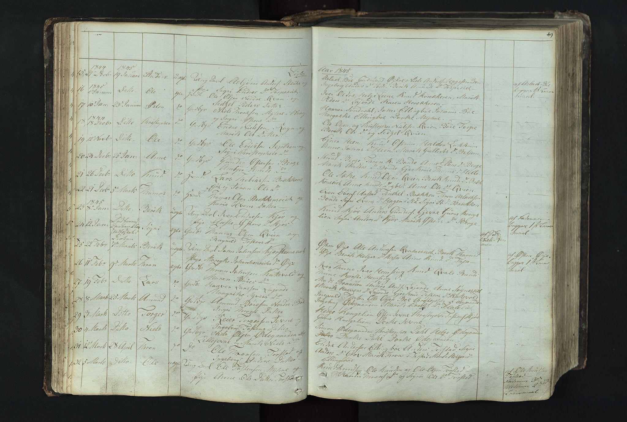 SAH, Vang prestekontor, Valdres, Klokkerbok nr. 4, 1835-1892, s. 49