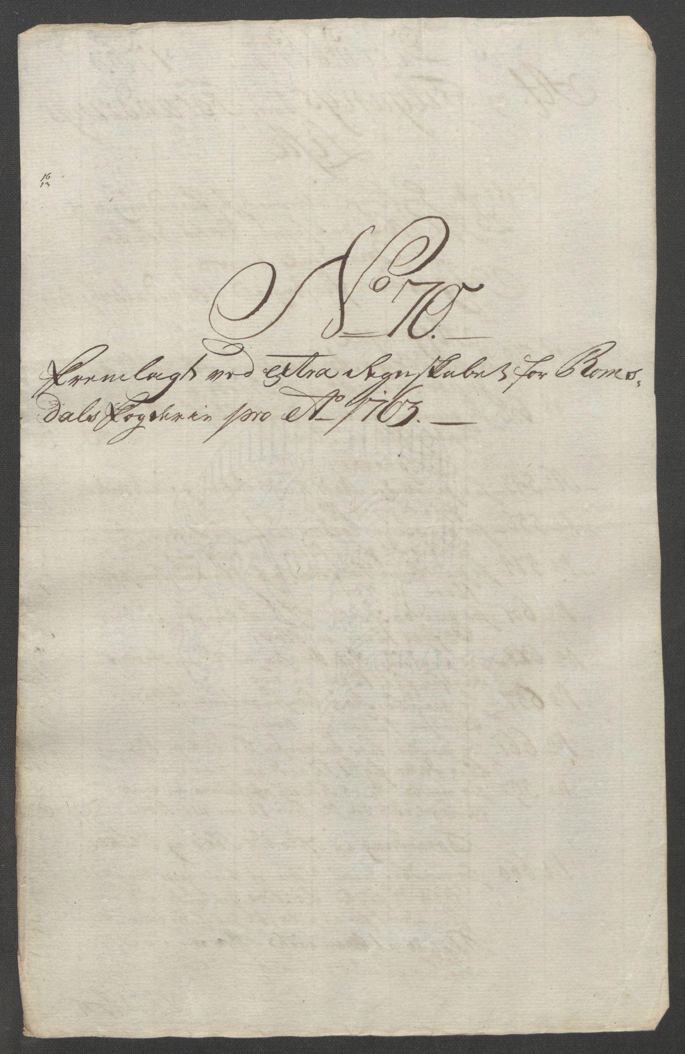 RA, Rentekammeret inntil 1814, Reviderte regnskaper, Fogderegnskap, R55/L3730: Ekstraskatten Romsdal, 1762-1763, s. 520