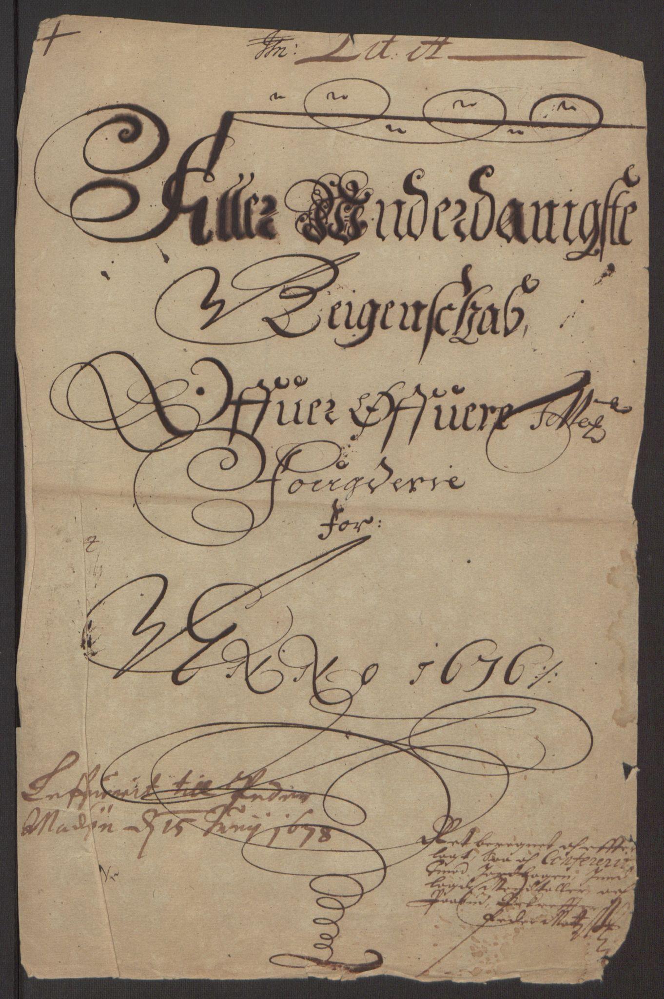 RA, Rentekammeret inntil 1814, Reviderte regnskaper, Fogderegnskap, R35/L2065: Fogderegnskap Øvre og Nedre Telemark, 1676, s. 3