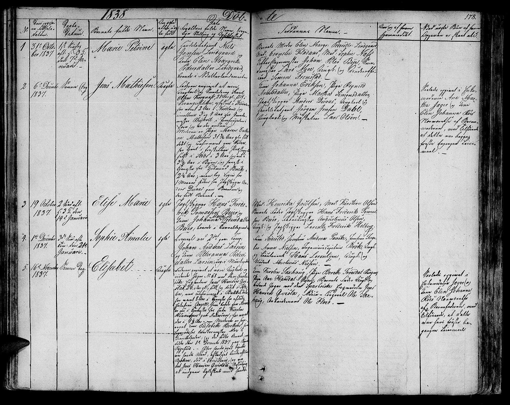 SAT, Ministerialprotokoller, klokkerbøker og fødselsregistre - Sør-Trøndelag, 602/L0108: Ministerialbok nr. 602A06, 1821-1839, s. 178